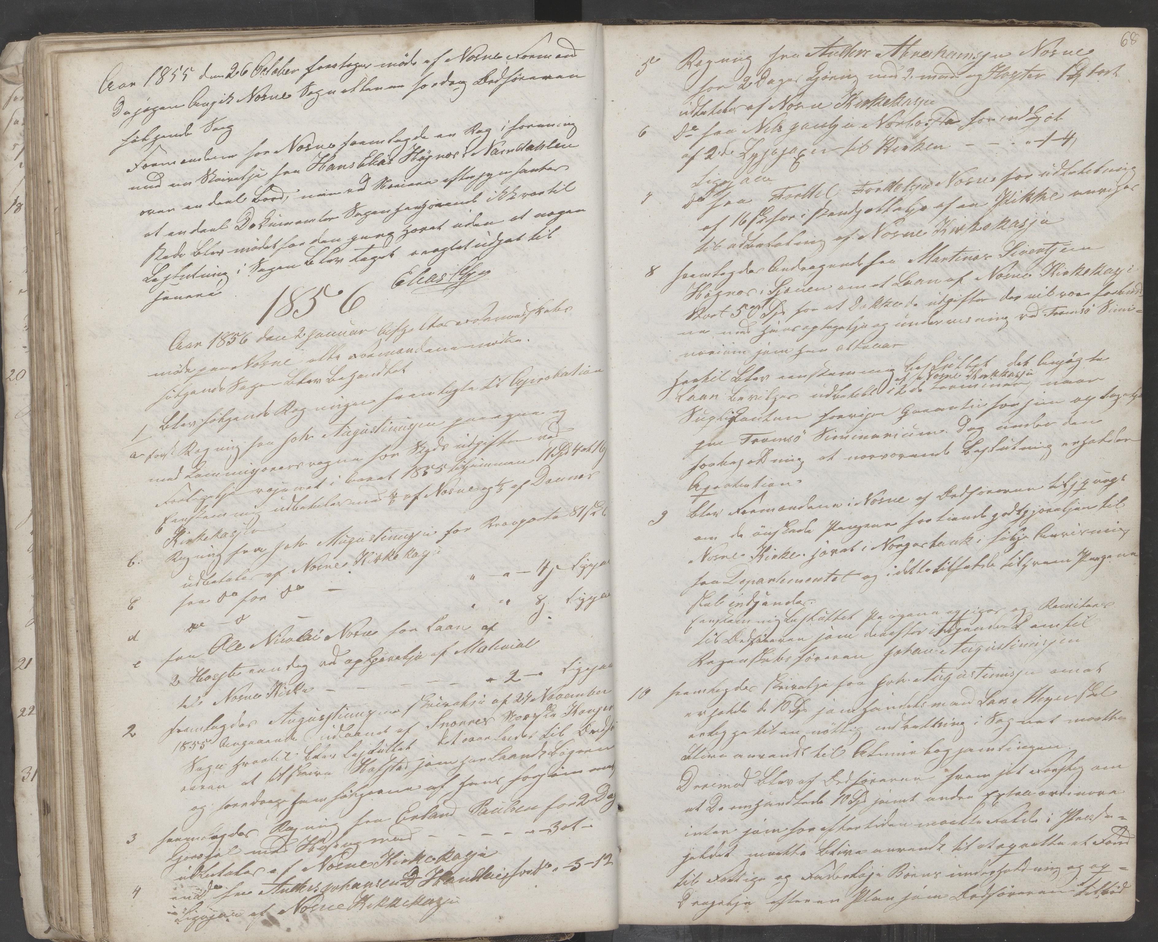AIN, Nesna kommune. Formannskapet, 100/L0001: Møtebok, 1838-1873, s. 68