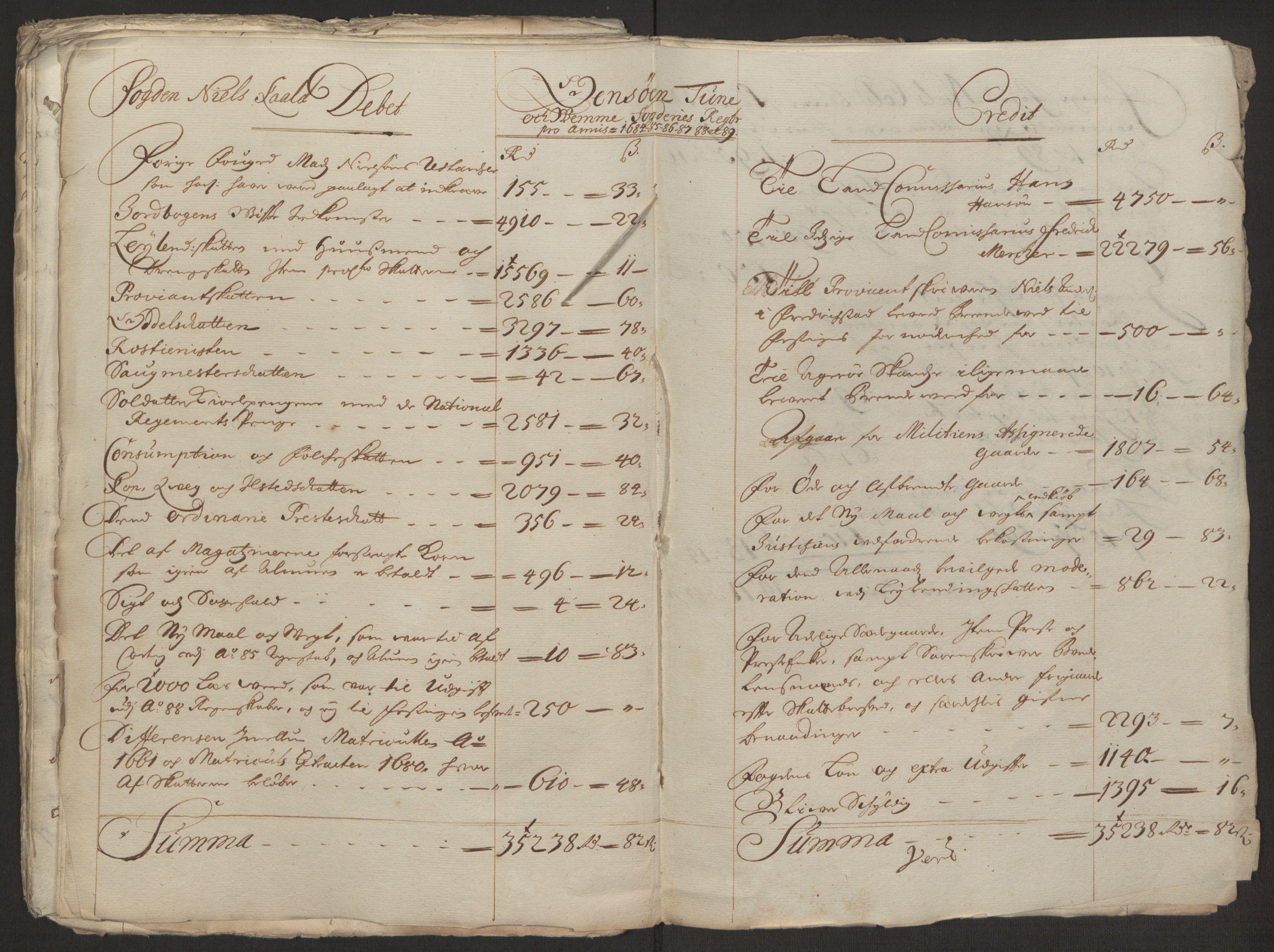 RA, Rentekammeret inntil 1814, Reviderte regnskaper, Fogderegnskap, R03/L0118: Fogderegnskap Onsøy, Tune, Veme og Åbygge fogderi, 1684-1689, s. 108