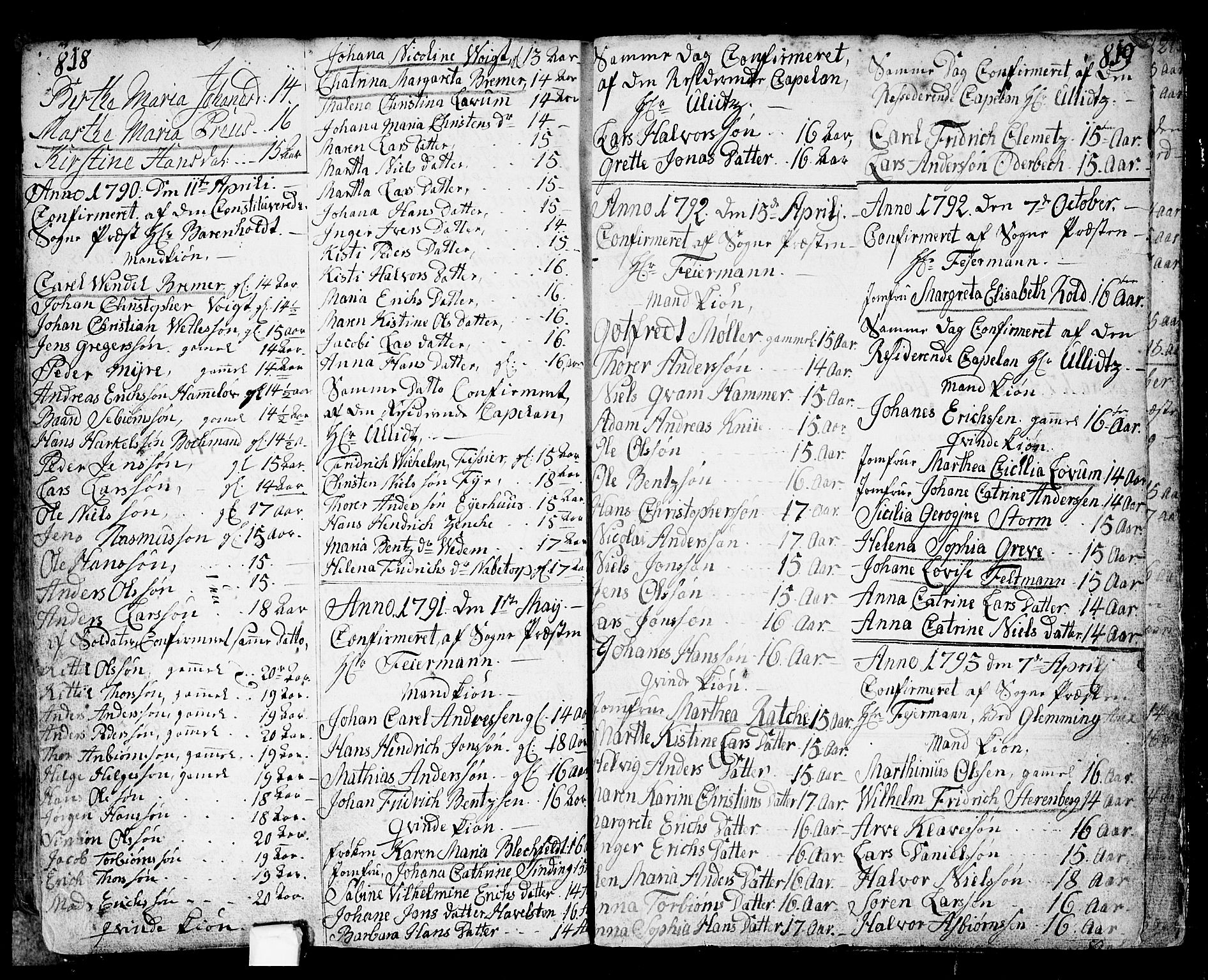 SAO, Fredrikstad prestekontor Kirkebøker, F/Fa/L0002: Ministerialbok nr. 2, 1750-1804, s. 818-819