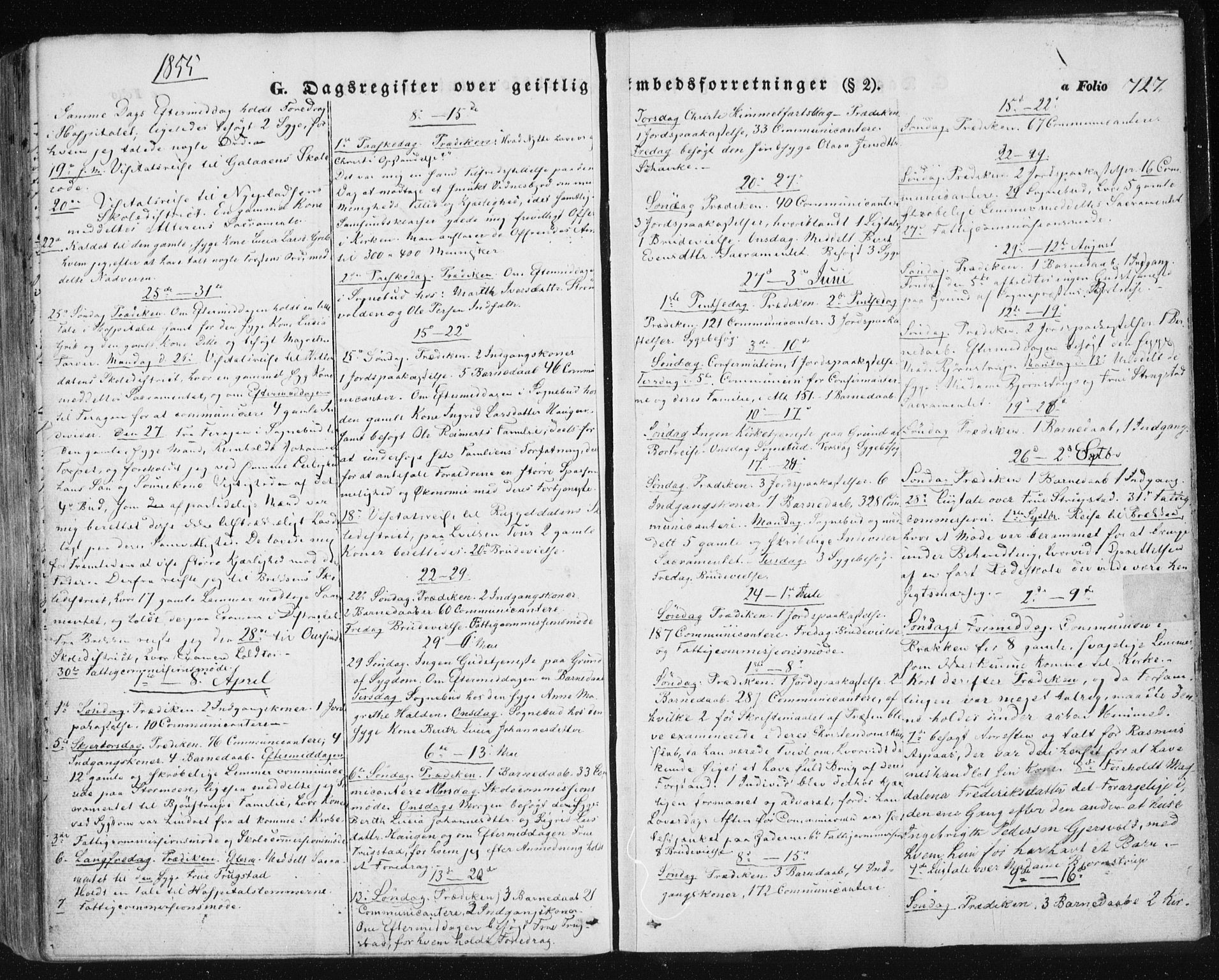 SAT, Ministerialprotokoller, klokkerbøker og fødselsregistre - Sør-Trøndelag, 681/L0931: Ministerialbok nr. 681A09, 1845-1859, s. 727