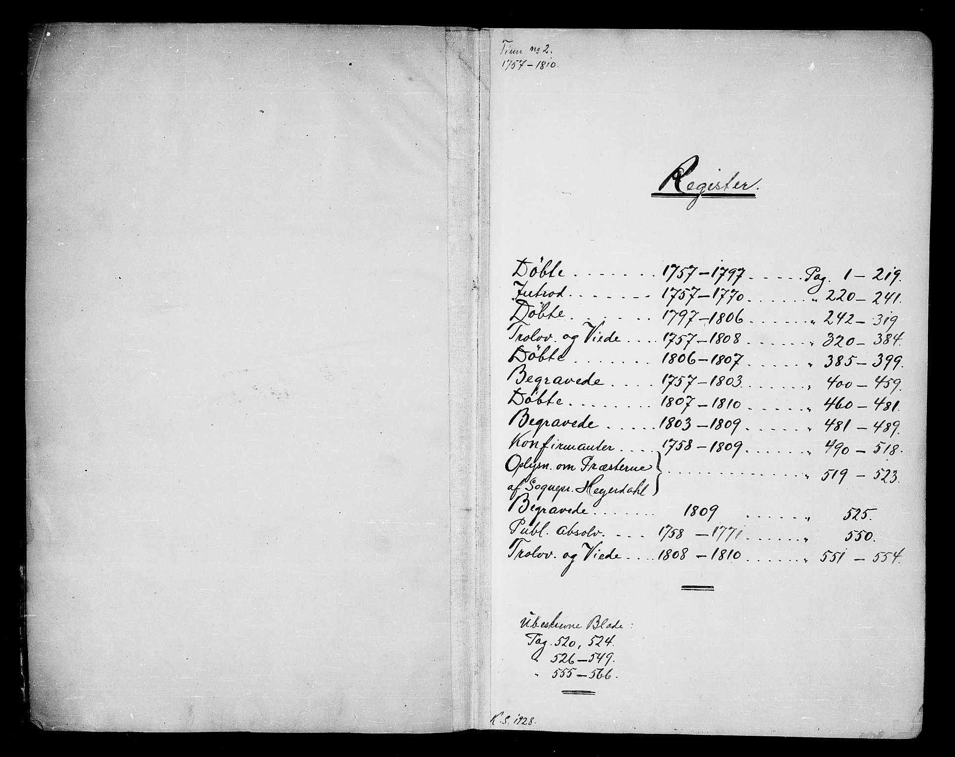 SAKO, Tinn kirkebøker, F/Fa/L0002: Ministerialbok nr. I 2, 1757-1810