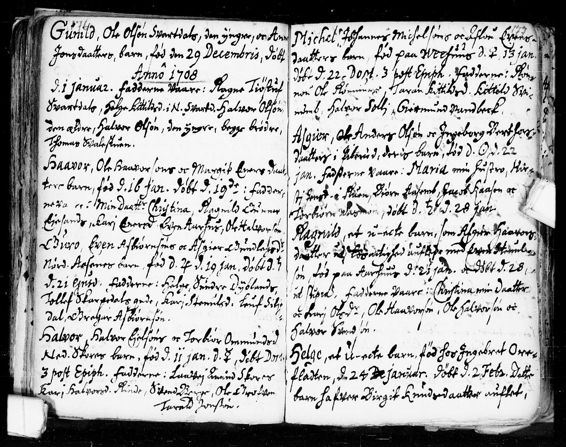 SAKO, Seljord kirkebøker, F/Fa/L0002: Ministerialbok nr. I 2, 1689-1713, s. 176-177