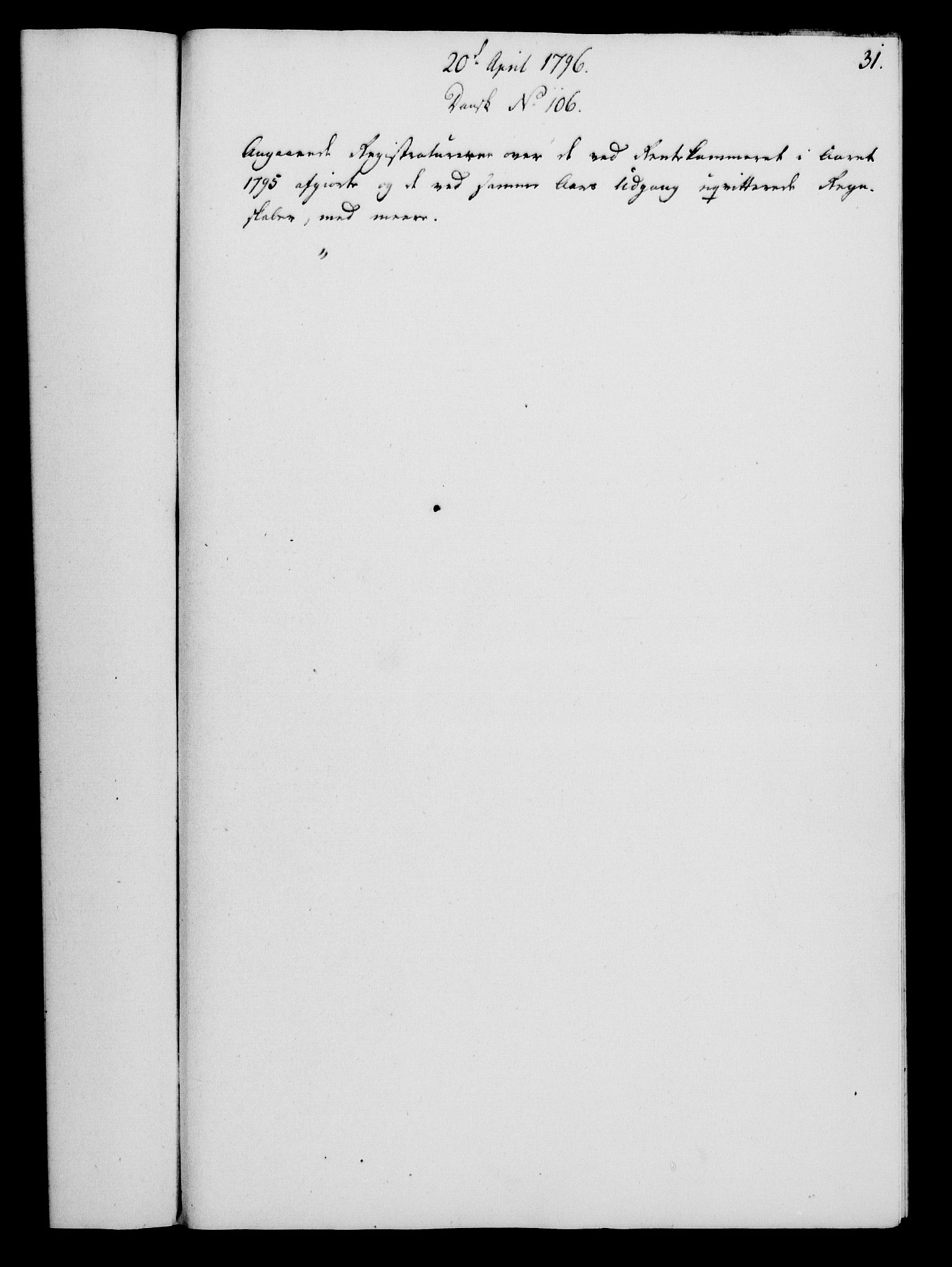 RA, Rentekammeret, Kammerkanselliet, G/Gf/Gfa/L0078: Norsk relasjons- og resolusjonsprotokoll (merket RK 52.78), 1796, s. 168