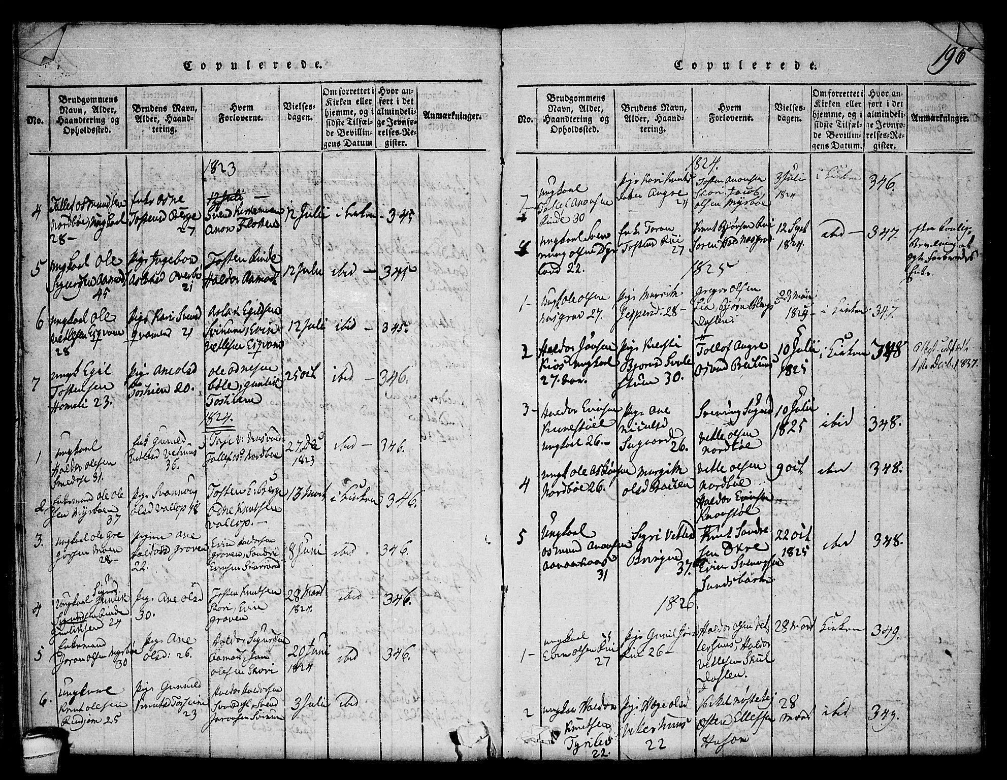 SAKO, Seljord kirkebøker, F/Fc/L0001: Ministerialbok nr. III 1, 1815-1831, s. 196