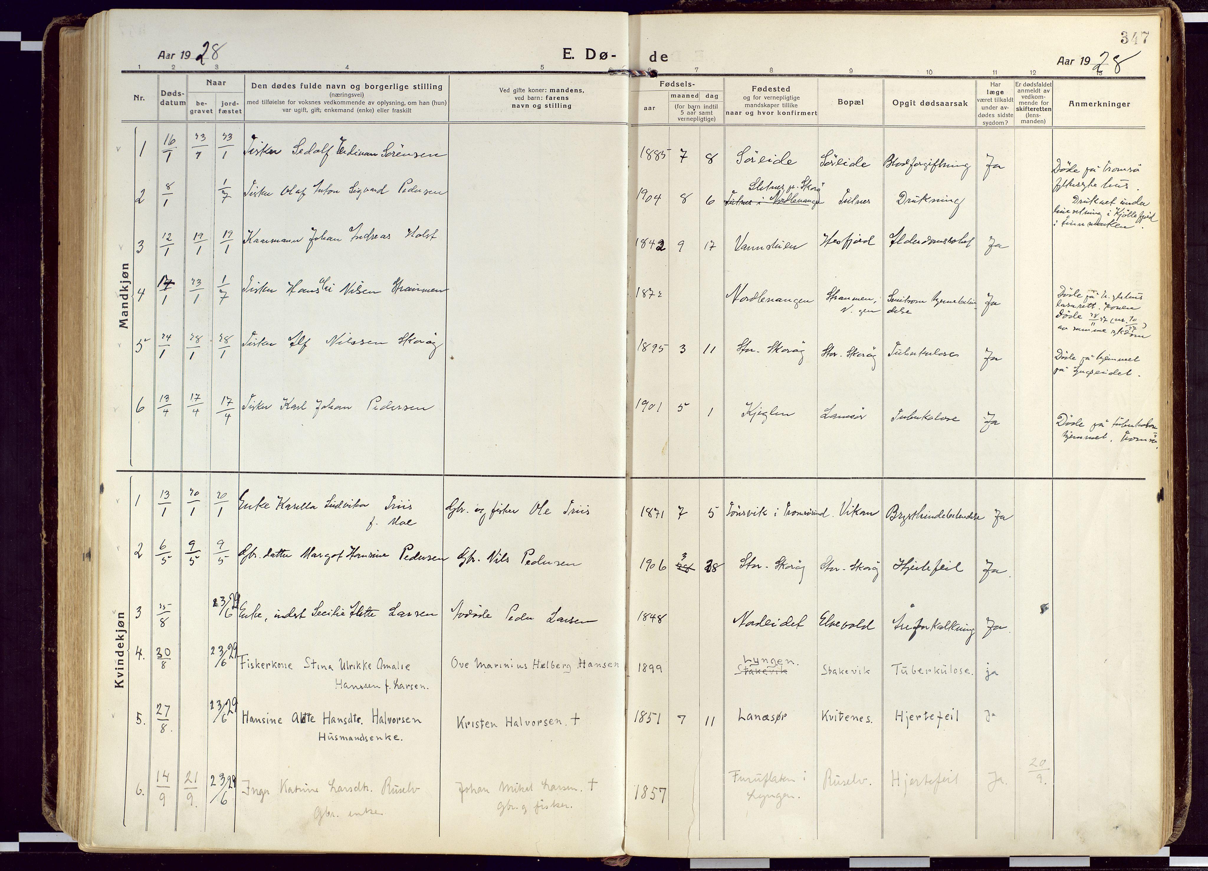 SATØ, Karlsøy sokneprestembete, Ministerialbok nr. 15, 1918-1929, s. 347