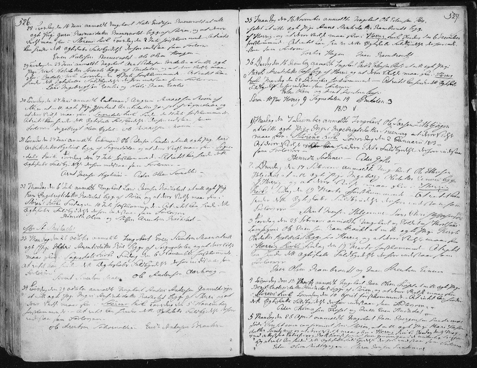 SAT, Ministerialprotokoller, klokkerbøker og fødselsregistre - Sør-Trøndelag, 687/L0992: Ministerialbok nr. 687A03 /1, 1788-1815, s. 526-527