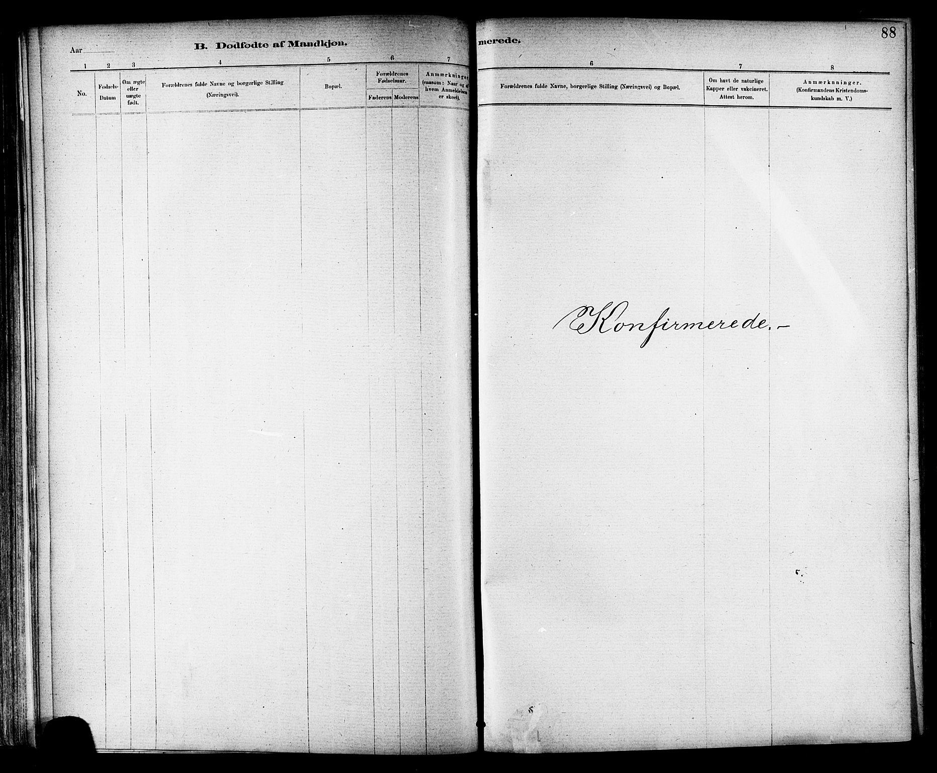 SAT, Ministerialprotokoller, klokkerbøker og fødselsregistre - Nord-Trøndelag, 703/L0030: Ministerialbok nr. 703A03, 1880-1892, s. 88