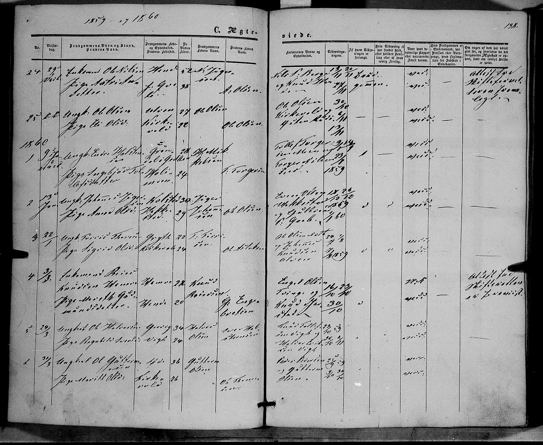 SAH, Vestre Slidre prestekontor, Ministerialbok nr. 2, 1856-1864, s. 138