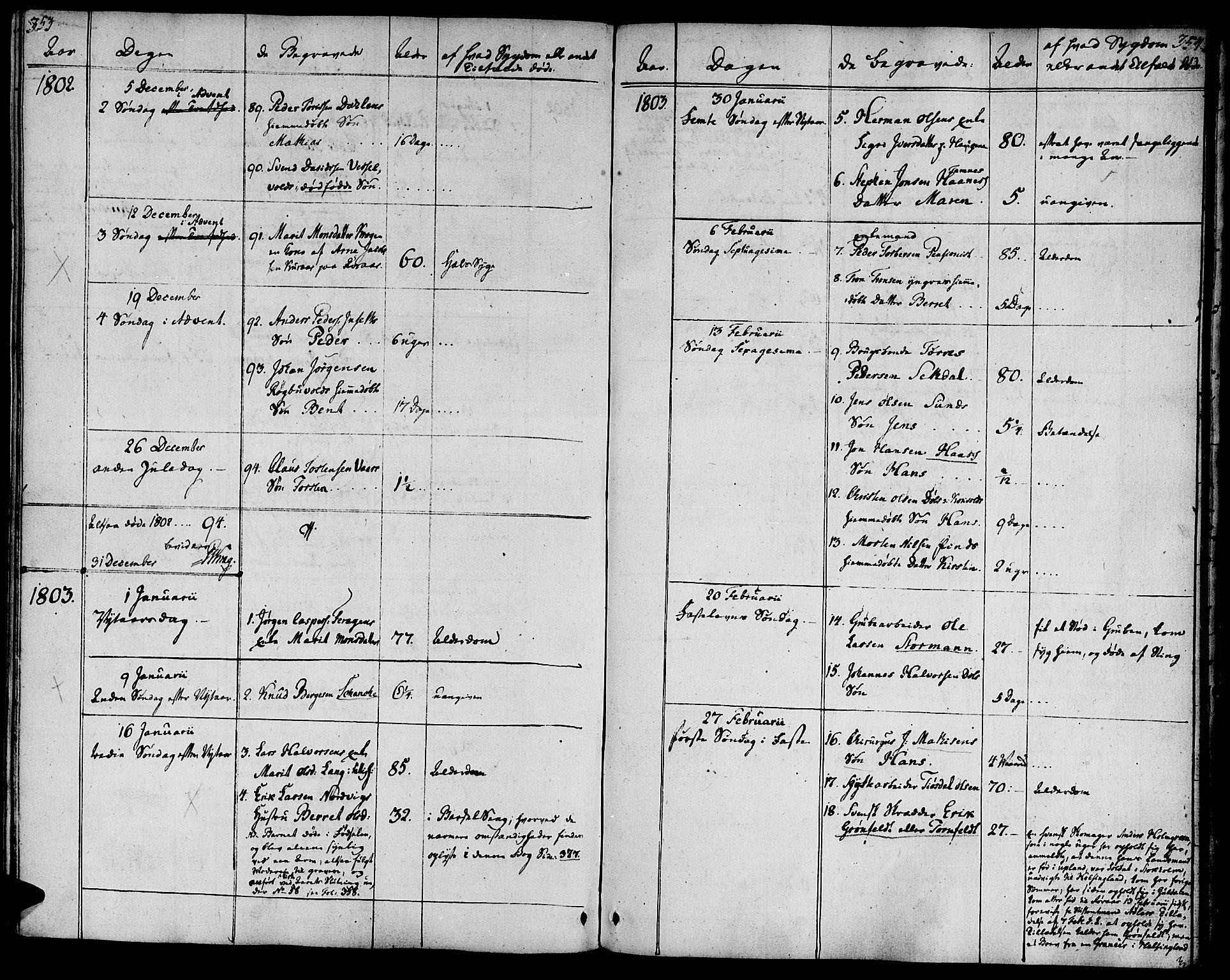 SAT, Ministerialprotokoller, klokkerbøker og fødselsregistre - Sør-Trøndelag, 681/L0927: Ministerialbok nr. 681A05, 1798-1808, s. 353-354