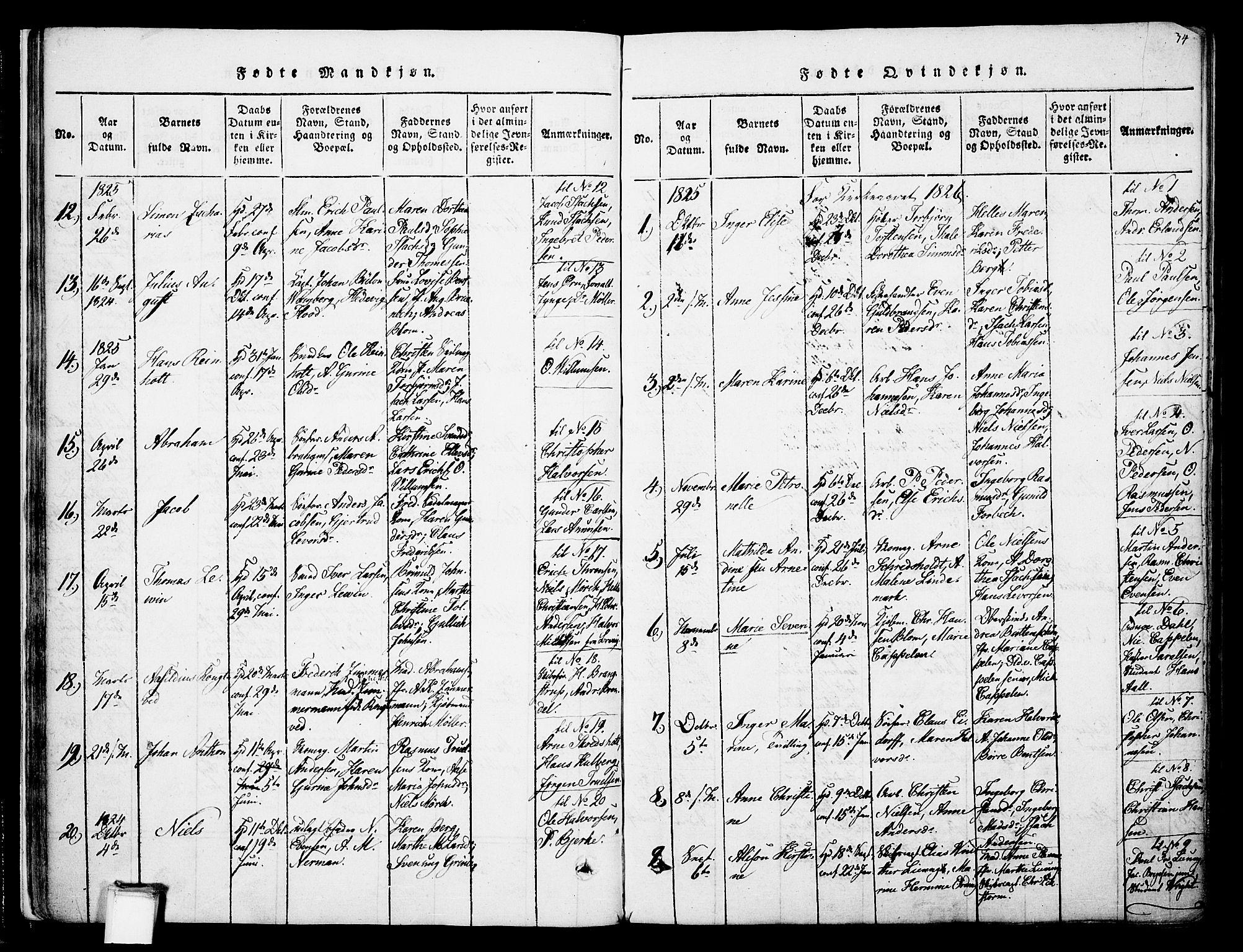 SAKO, Skien kirkebøker, F/Fa/L0005: Ministerialbok nr. 5, 1814-1843, s. 34