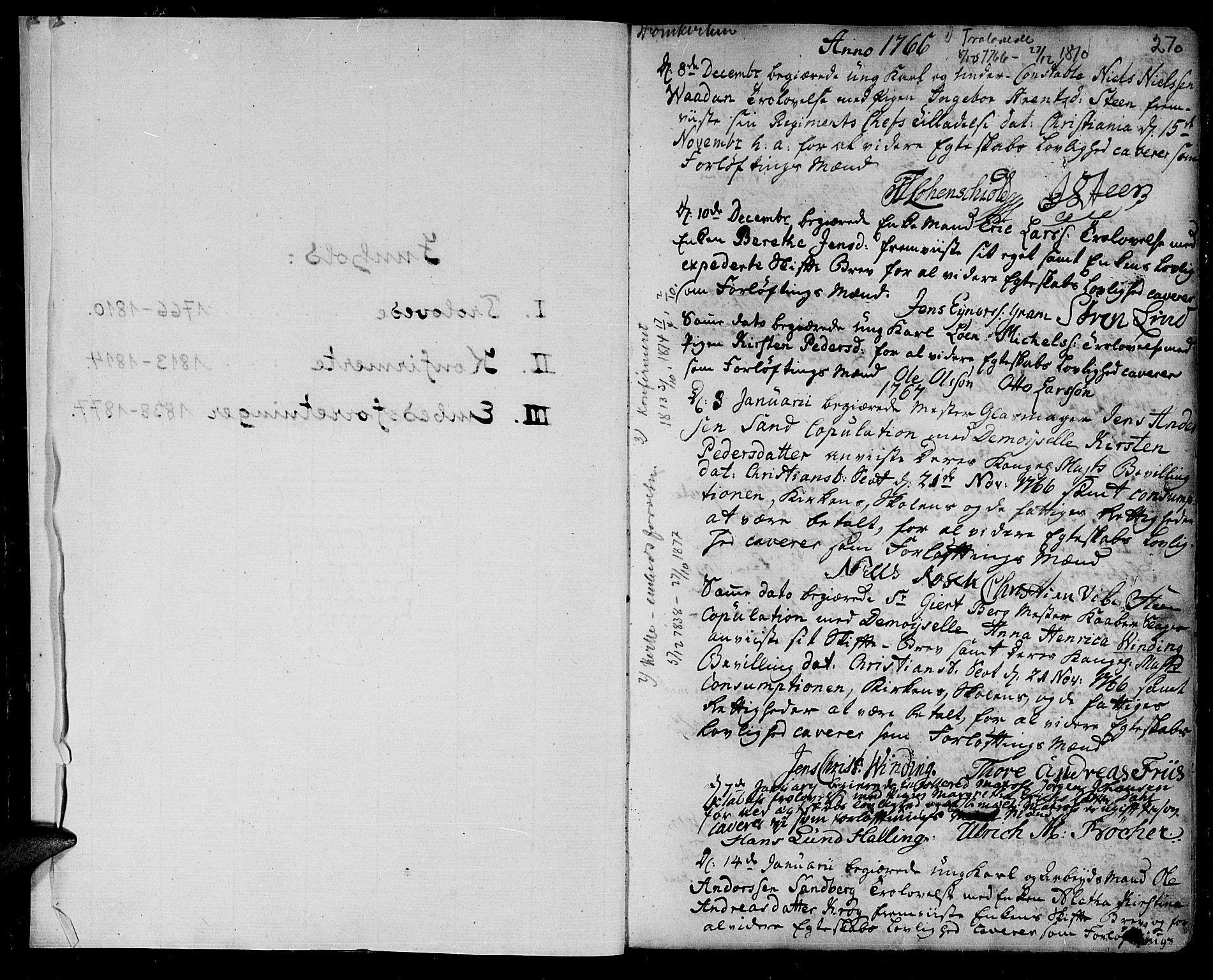 SAT, Ministerialprotokoller, klokkerbøker og fødselsregistre - Sør-Trøndelag, 601/L0038: Ministerialbok nr. 601A06, 1766-1877, s. 270