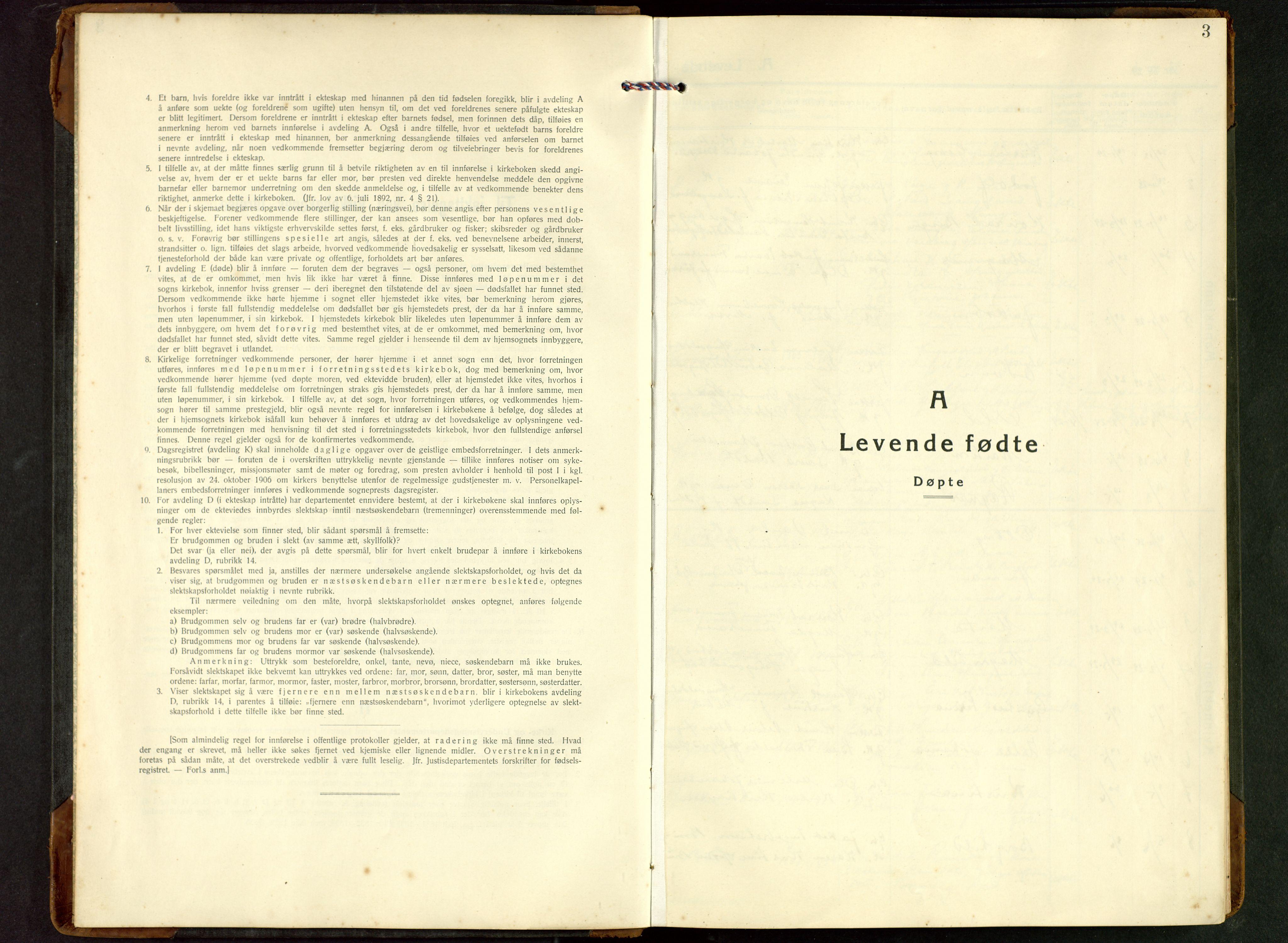 SAST, Rennesøy sokneprestkontor, H/Ha/Hab/L0017: Klokkerbok nr. B 16, 1929-1949, s. 3