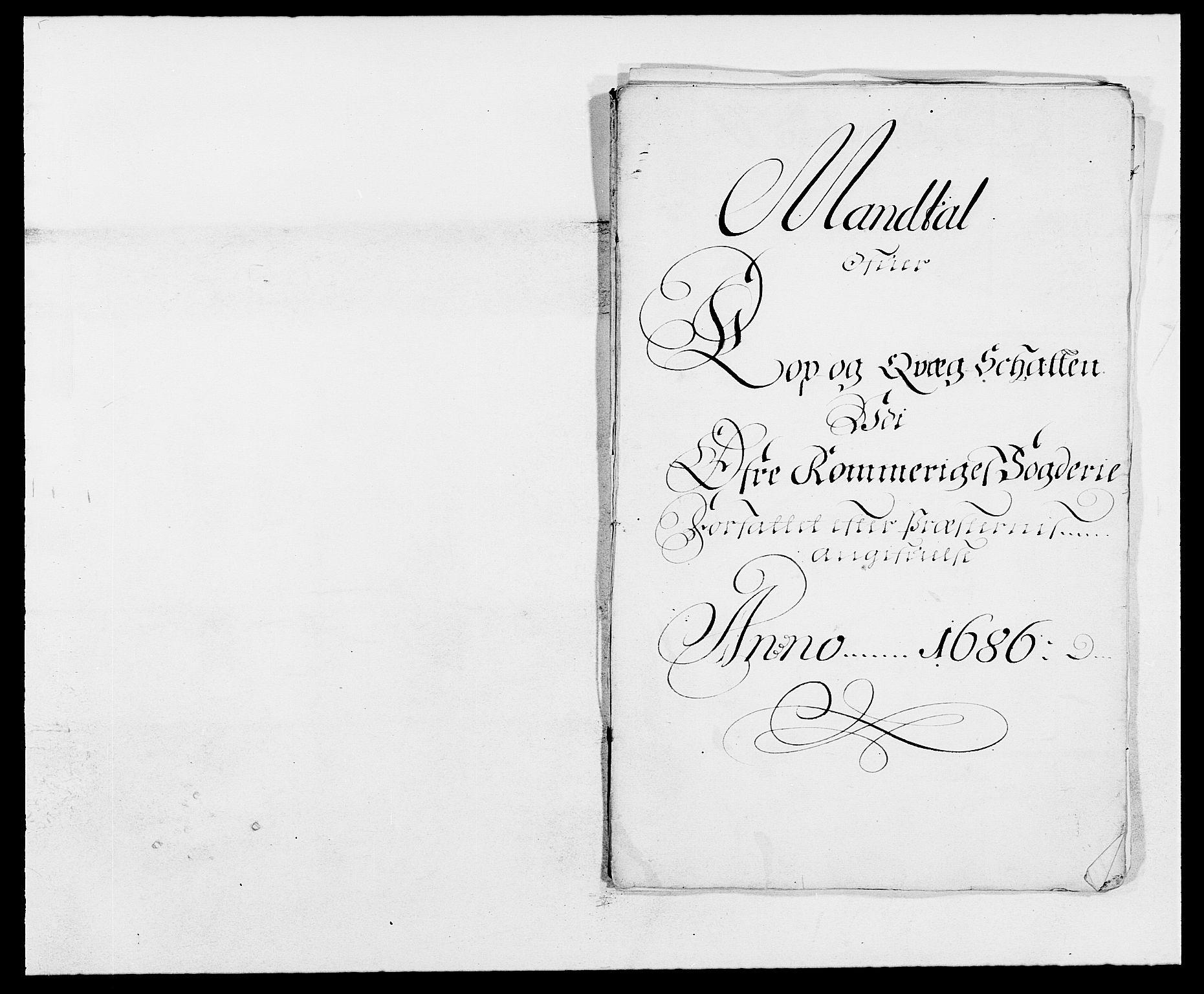 RA, Rentekammeret inntil 1814, Reviderte regnskaper, Fogderegnskap, R12/L0699: Fogderegnskap Øvre Romerike, 1685-1686, s. 309