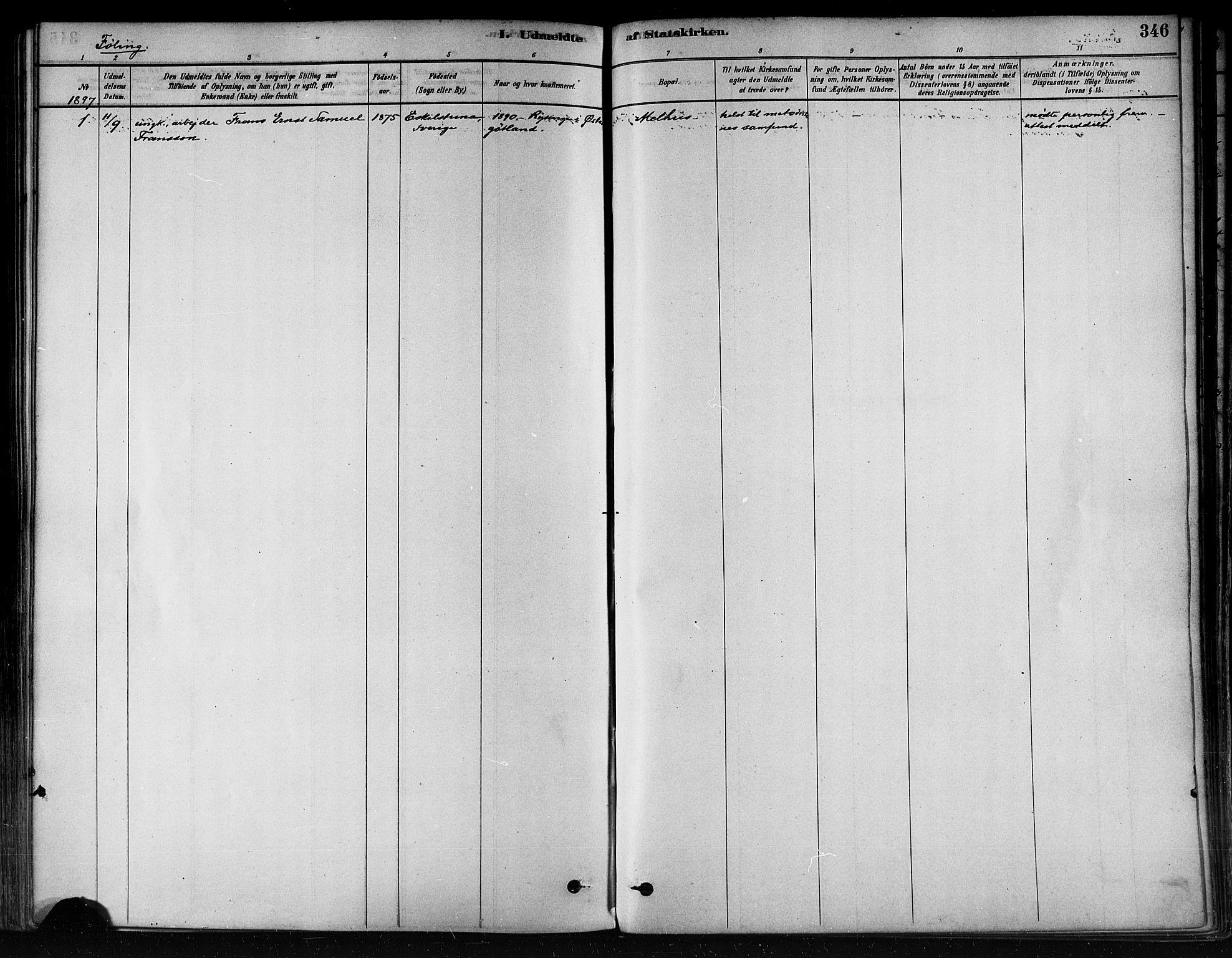 SAT, Ministerialprotokoller, klokkerbøker og fødselsregistre - Nord-Trøndelag, 746/L0449: Ministerialbok nr. 746A07 /3, 1878-1899, s. 346