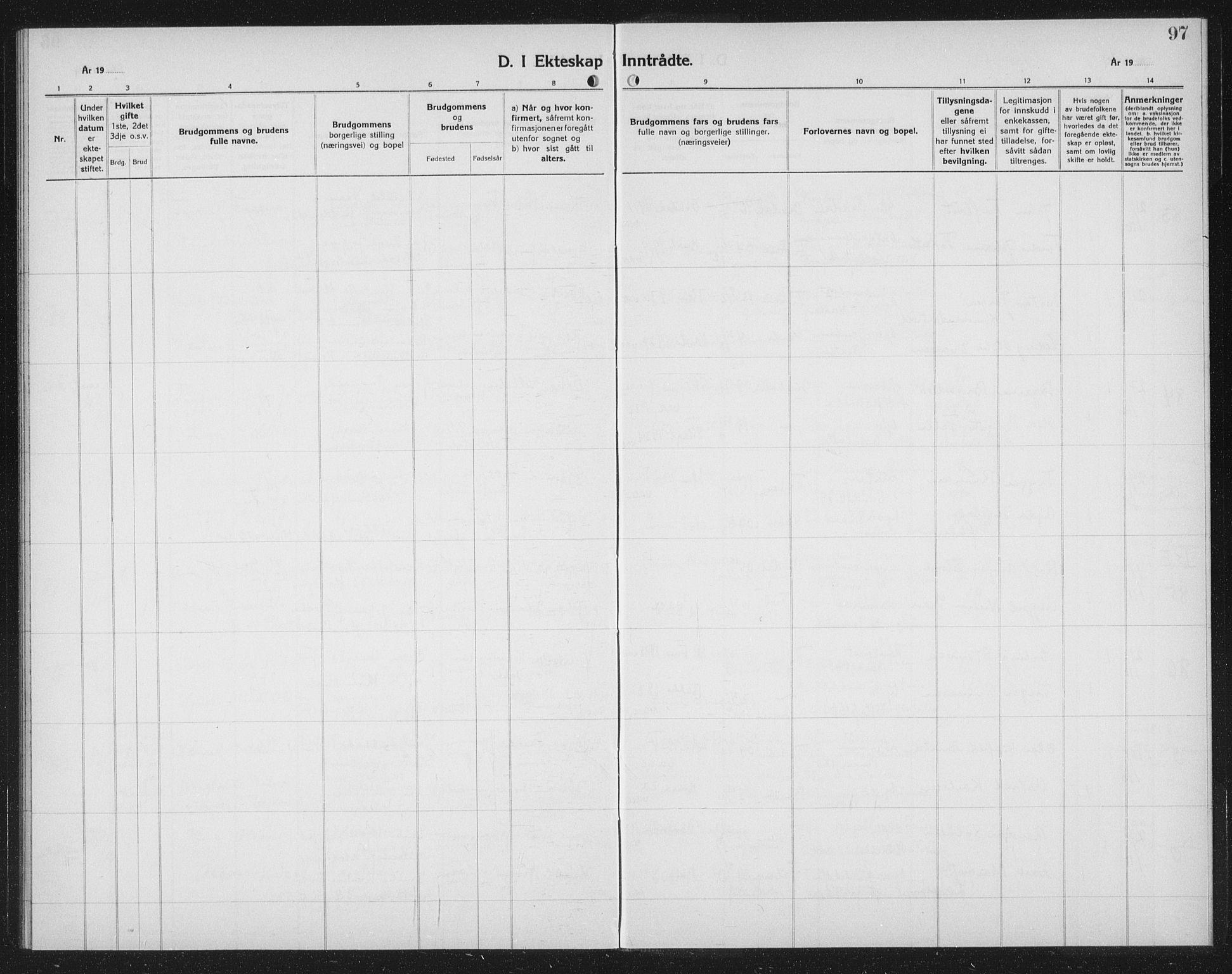 SAT, Ministerialprotokoller, klokkerbøker og fødselsregistre - Sør-Trøndelag, 602/L0152: Klokkerbok nr. 602C20, 1933-1940, s. 97