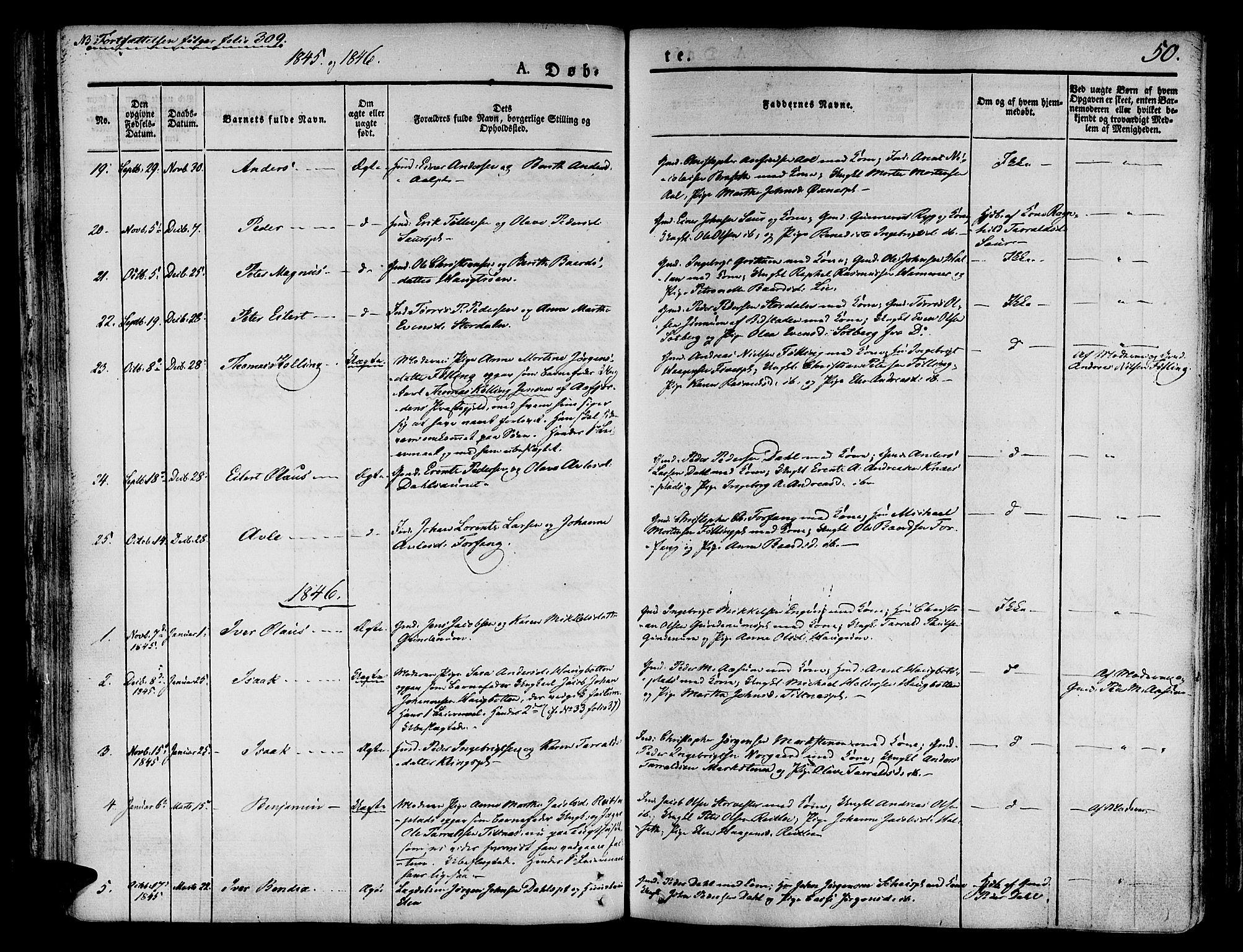 SAT, Ministerialprotokoller, klokkerbøker og fødselsregistre - Nord-Trøndelag, 746/L0445: Ministerialbok nr. 746A04, 1826-1846, s. 50