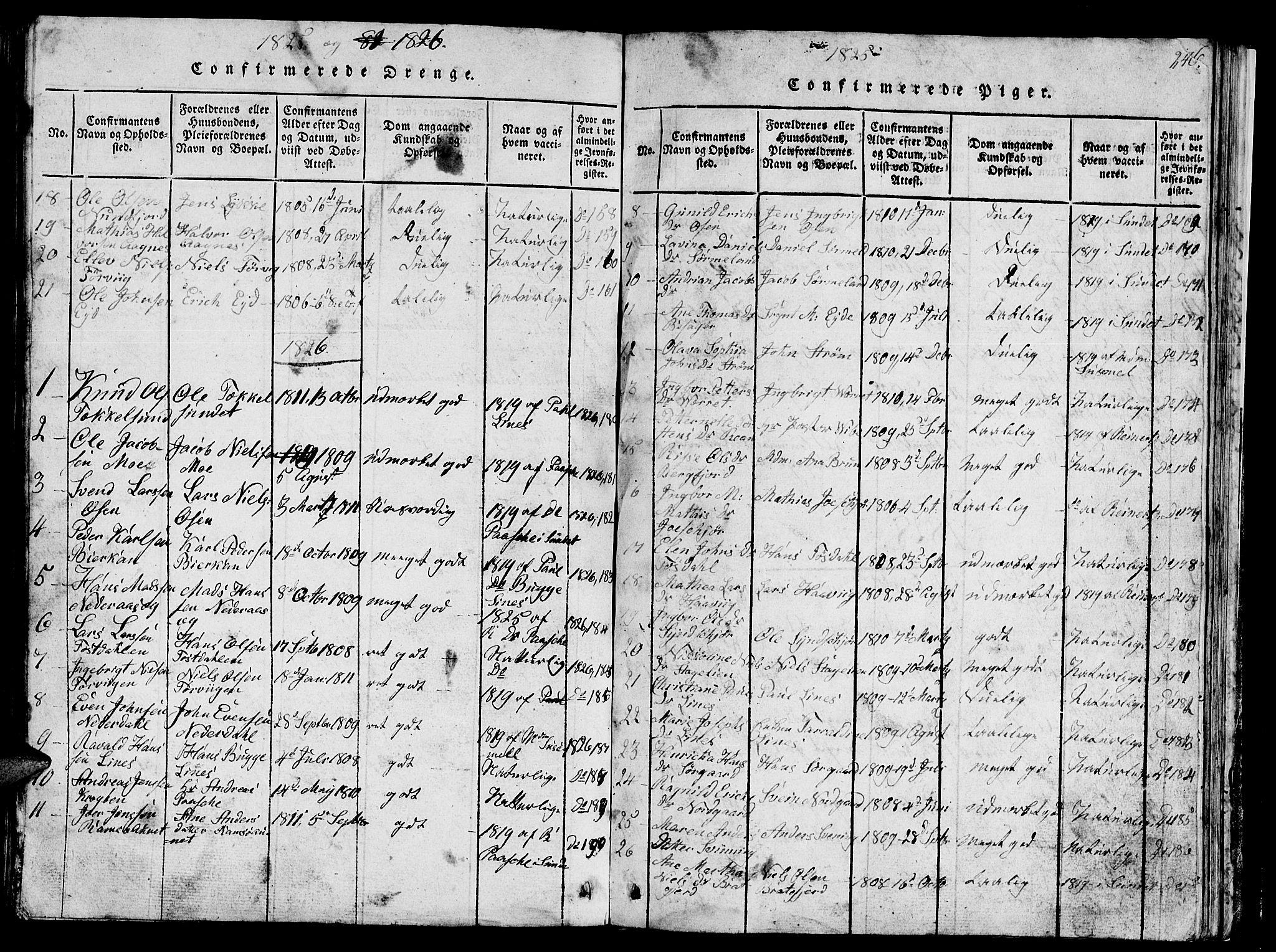 SAT, Ministerialprotokoller, klokkerbøker og fødselsregistre - Sør-Trøndelag, 657/L0714: Klokkerbok nr. 657C01, 1818-1868, s. 240