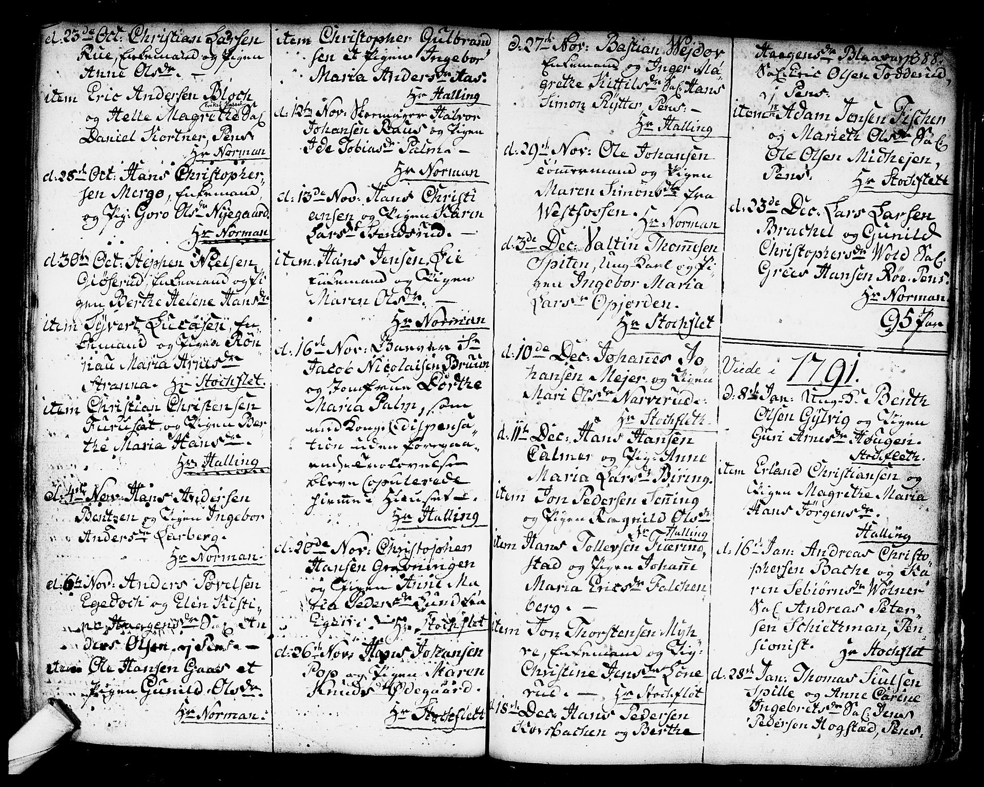 SAKO, Kongsberg kirkebøker, F/Fa/L0006: Ministerialbok nr. I 6, 1783-1797, s. 388