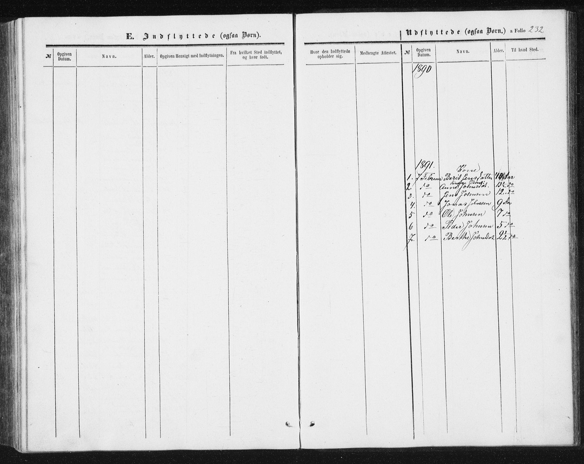 SAT, Ministerialprotokoller, klokkerbøker og fødselsregistre - Sør-Trøndelag, 698/L1166: Klokkerbok nr. 698C03, 1861-1887, s. 232