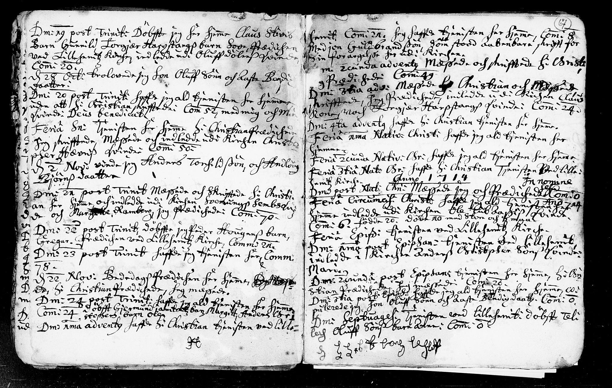 SAKO, Heddal kirkebøker, F/Fa/L0002: Ministerialbok nr. I 2, 1699-1722, s. 67