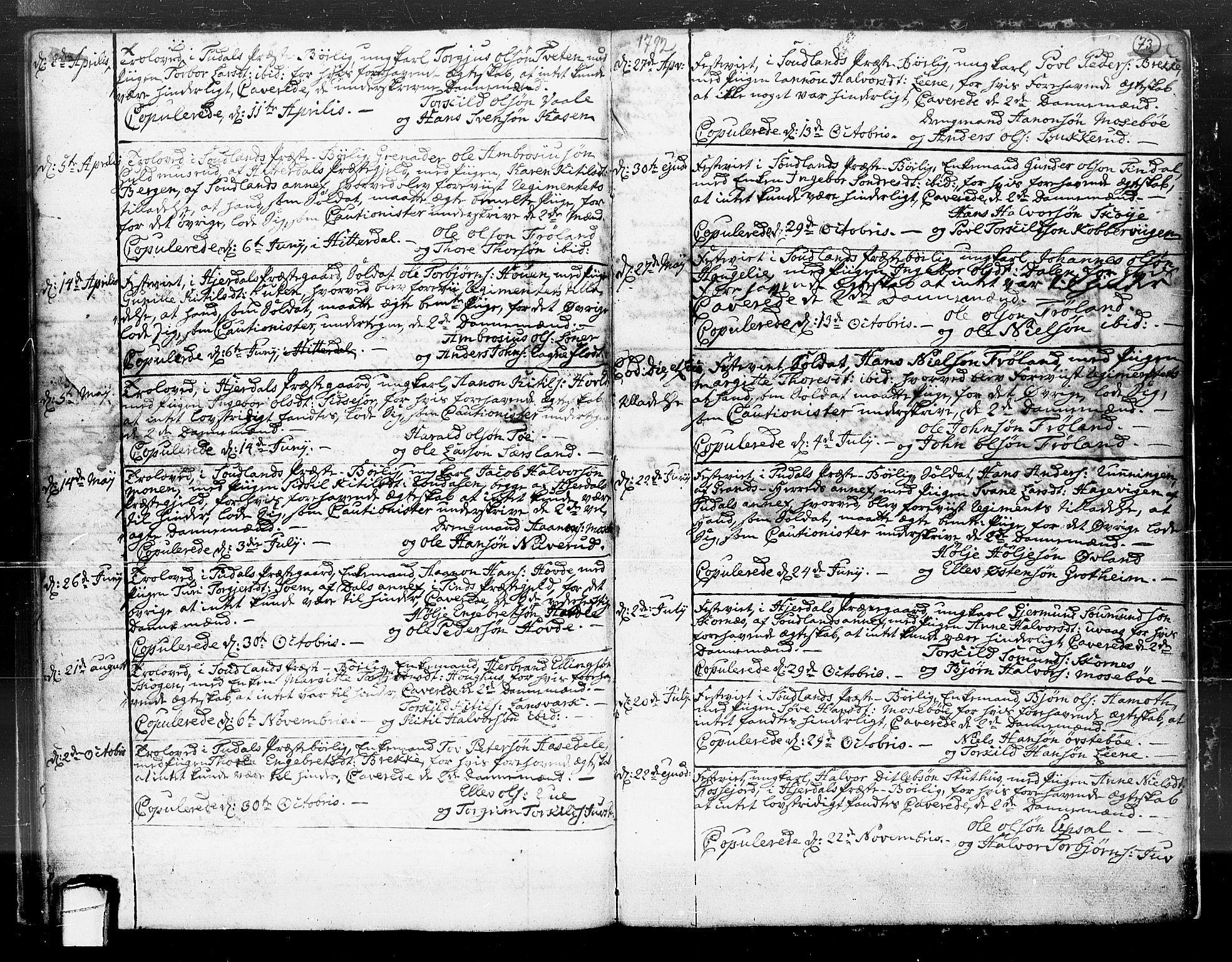 SAKO, Hjartdal kirkebøker, F/Fa/L0004: Ministerialbok nr. I 4, 1727-1795, s. 73