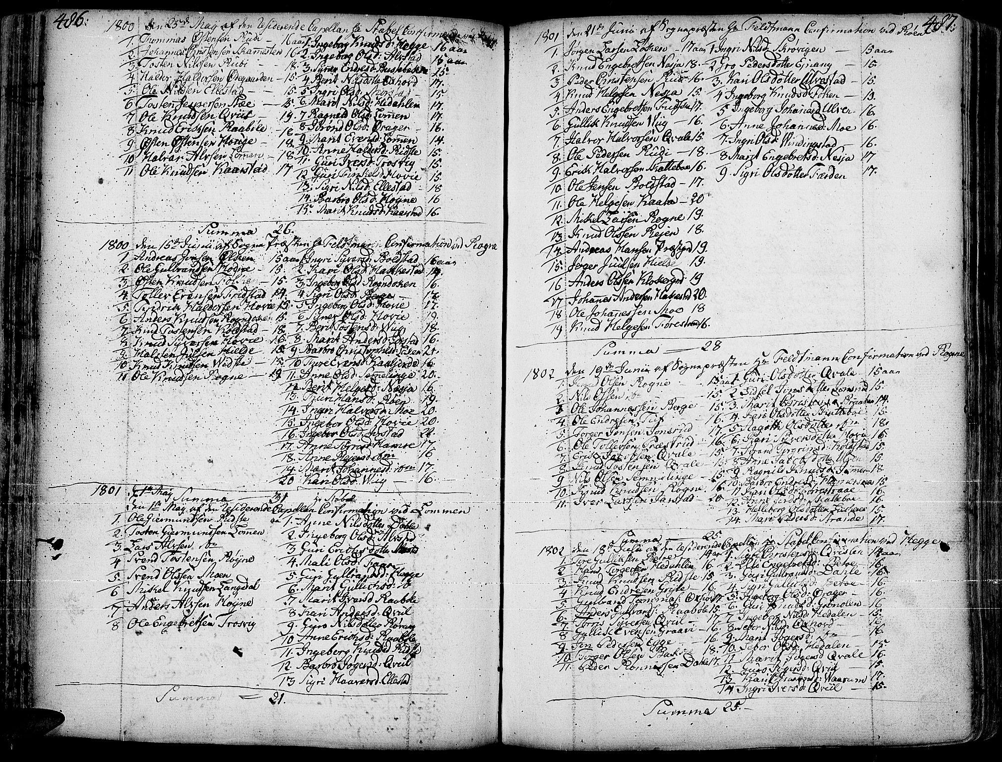 SAH, Slidre prestekontor, Ministerialbok nr. 1, 1724-1814, s. 486-487
