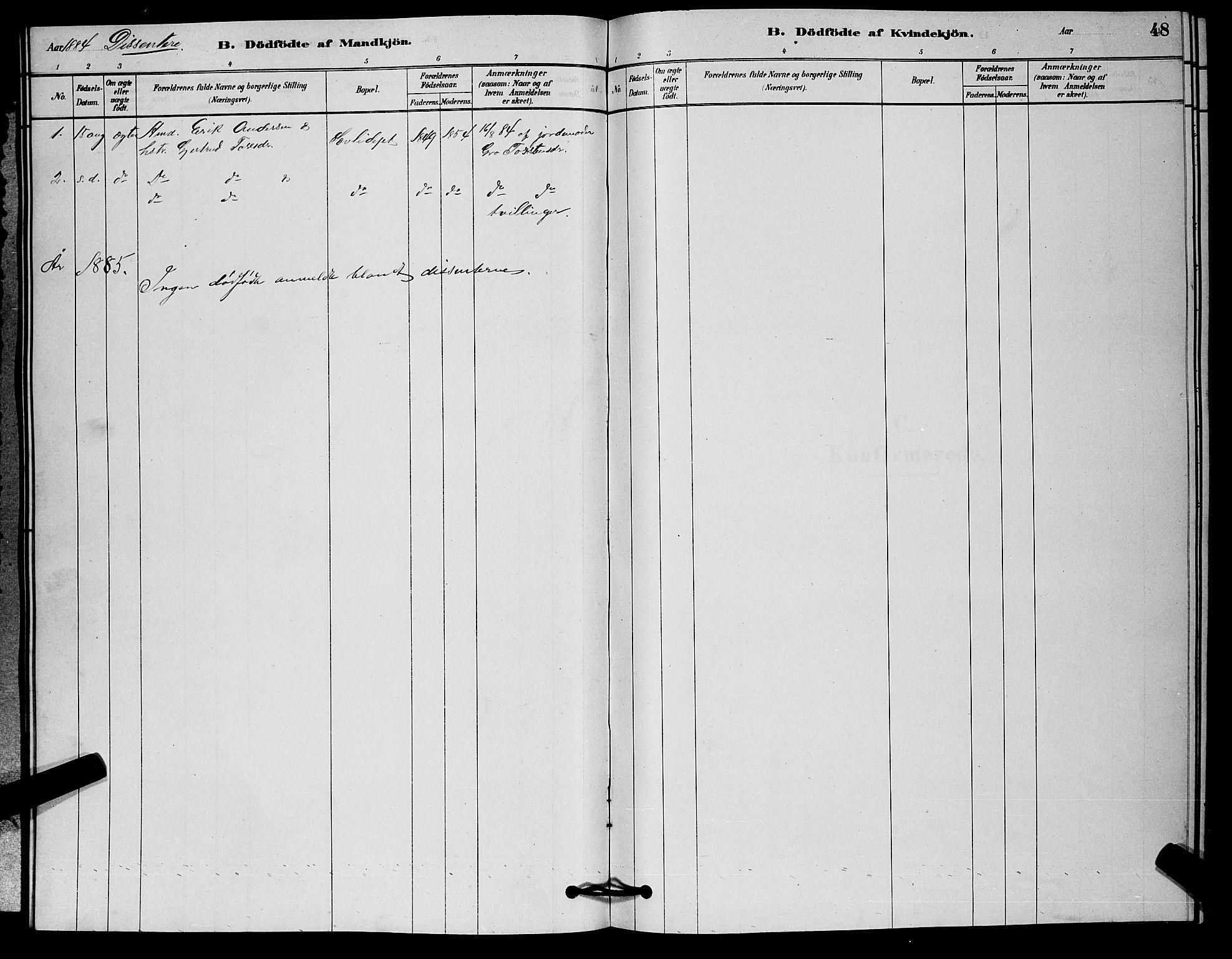SAKO, Nore kirkebøker, G/Ga/L0002: Klokkerbok nr. I 2, 1878-1885, s. 48