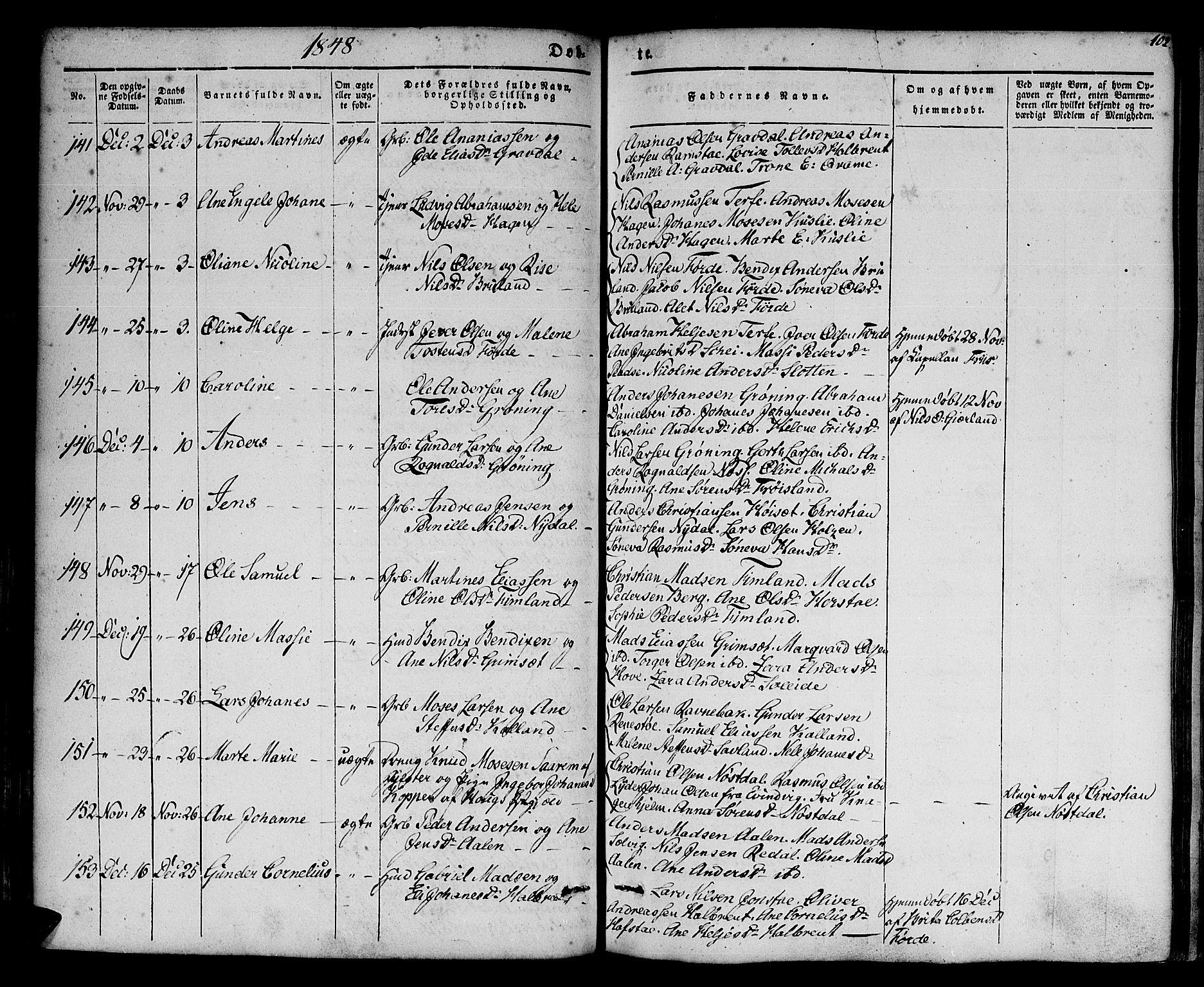 SAB, Førde sokneprestembete, H/Haa: Ministerialbok nr. A 7, 1843-1860, s. 102