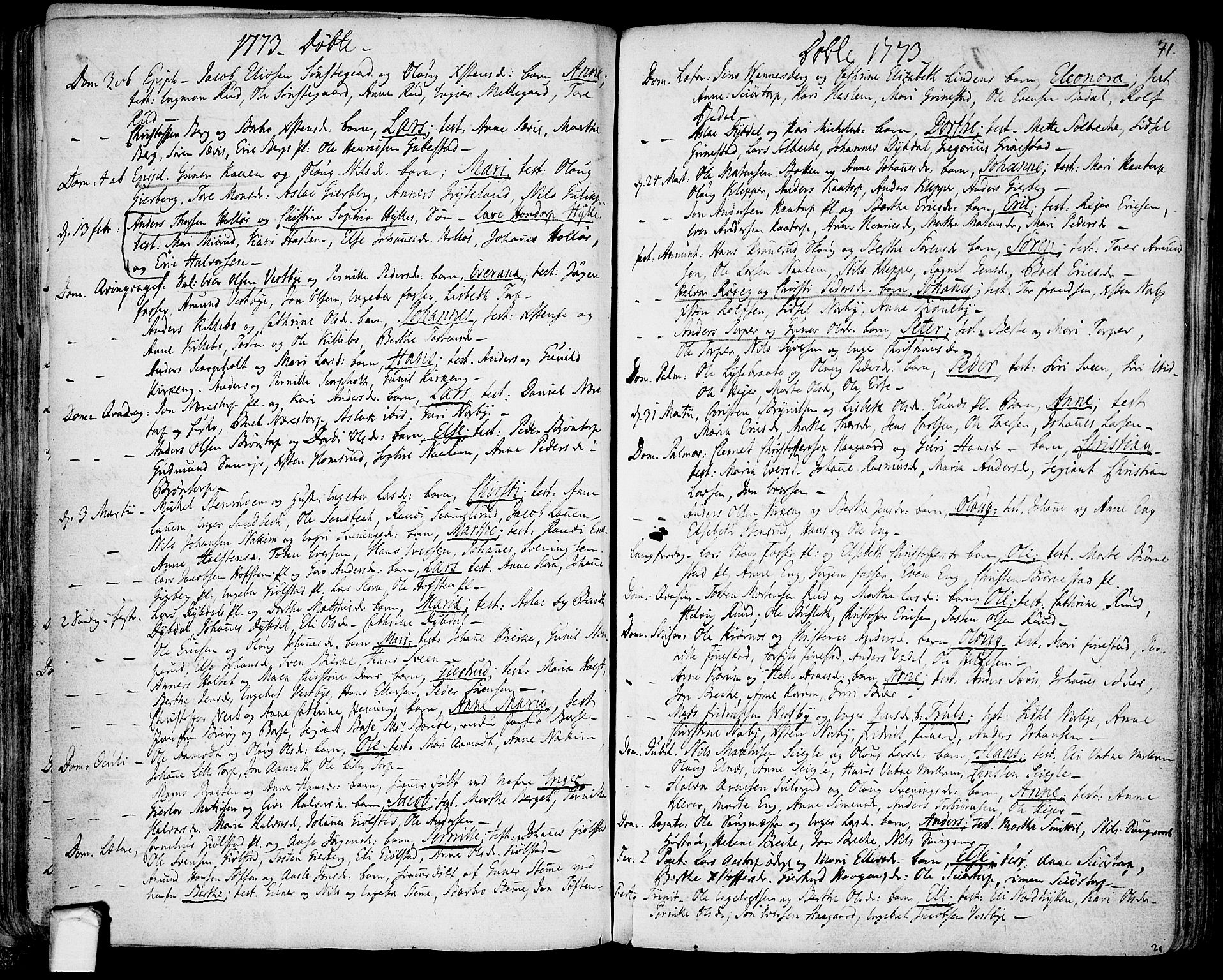 SAO, Rakkestad prestekontor Kirkebøker, F/Fa/L0003: Ministerialbok nr. I 3, 1752-1777, s. 71