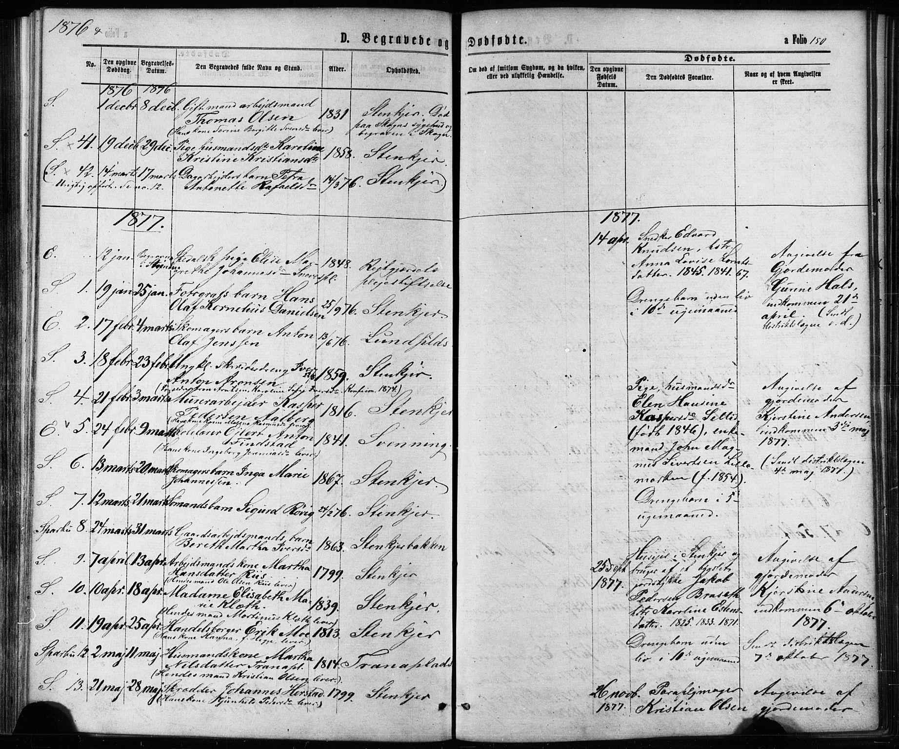 SAT, Ministerialprotokoller, klokkerbøker og fødselsregistre - Nord-Trøndelag, 739/L0370: Ministerialbok nr. 739A02, 1868-1881, s. 150
