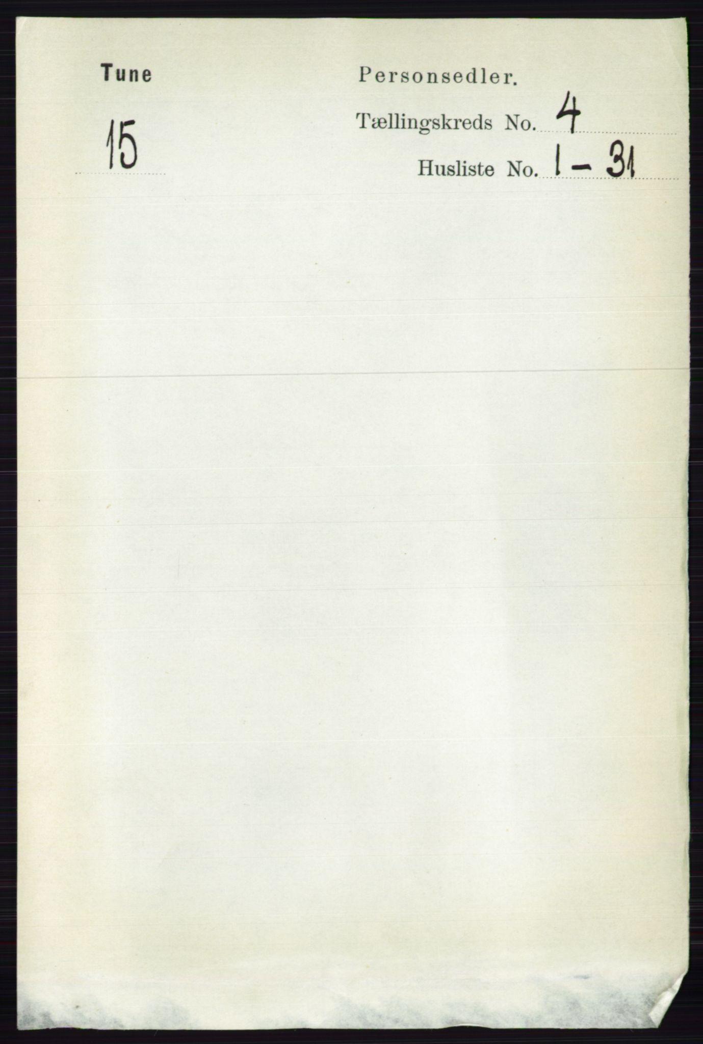 RA, Folketelling 1891 for 0130 Tune herred, 1891, s. 2197