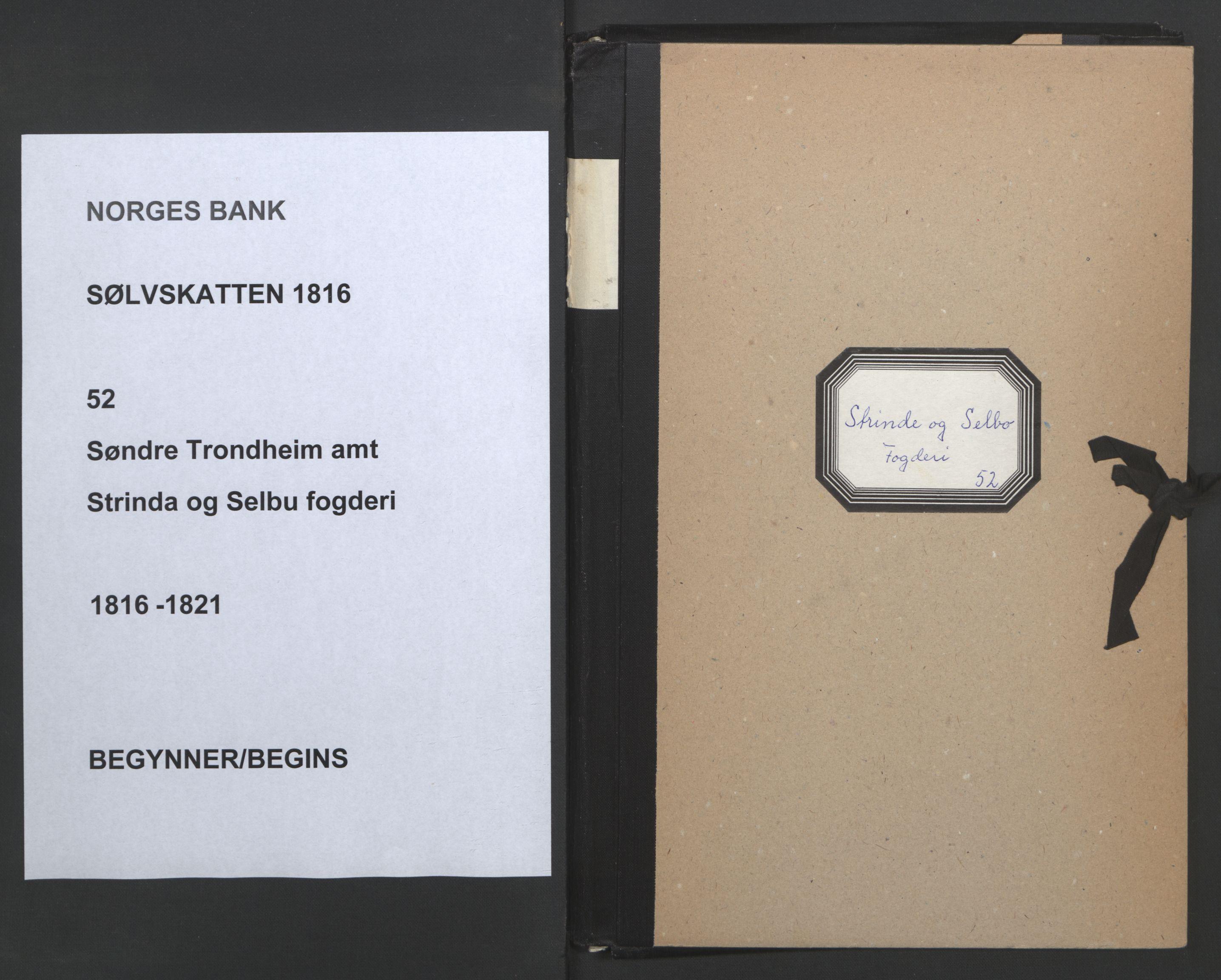 NOBA, Norges Bank/Sølvskatten 1816*, 1816-1821, s. 1