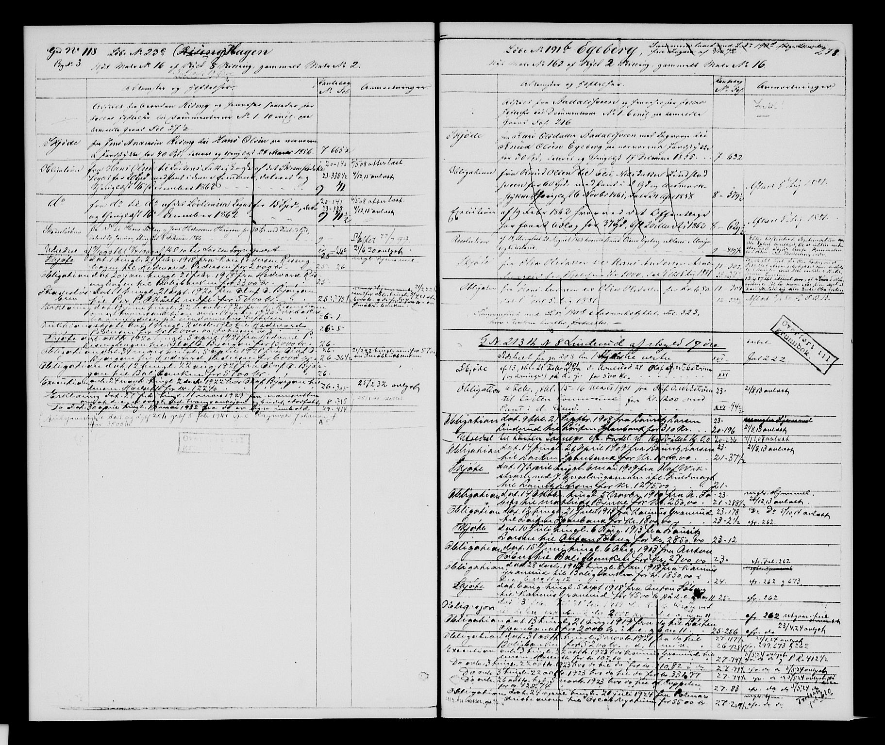 SAH, Sør-Hedmark sorenskriveri, H/Ha/Hac/Hacc/L0001: Panteregister nr. 3.1, 1855-1943, s. 278