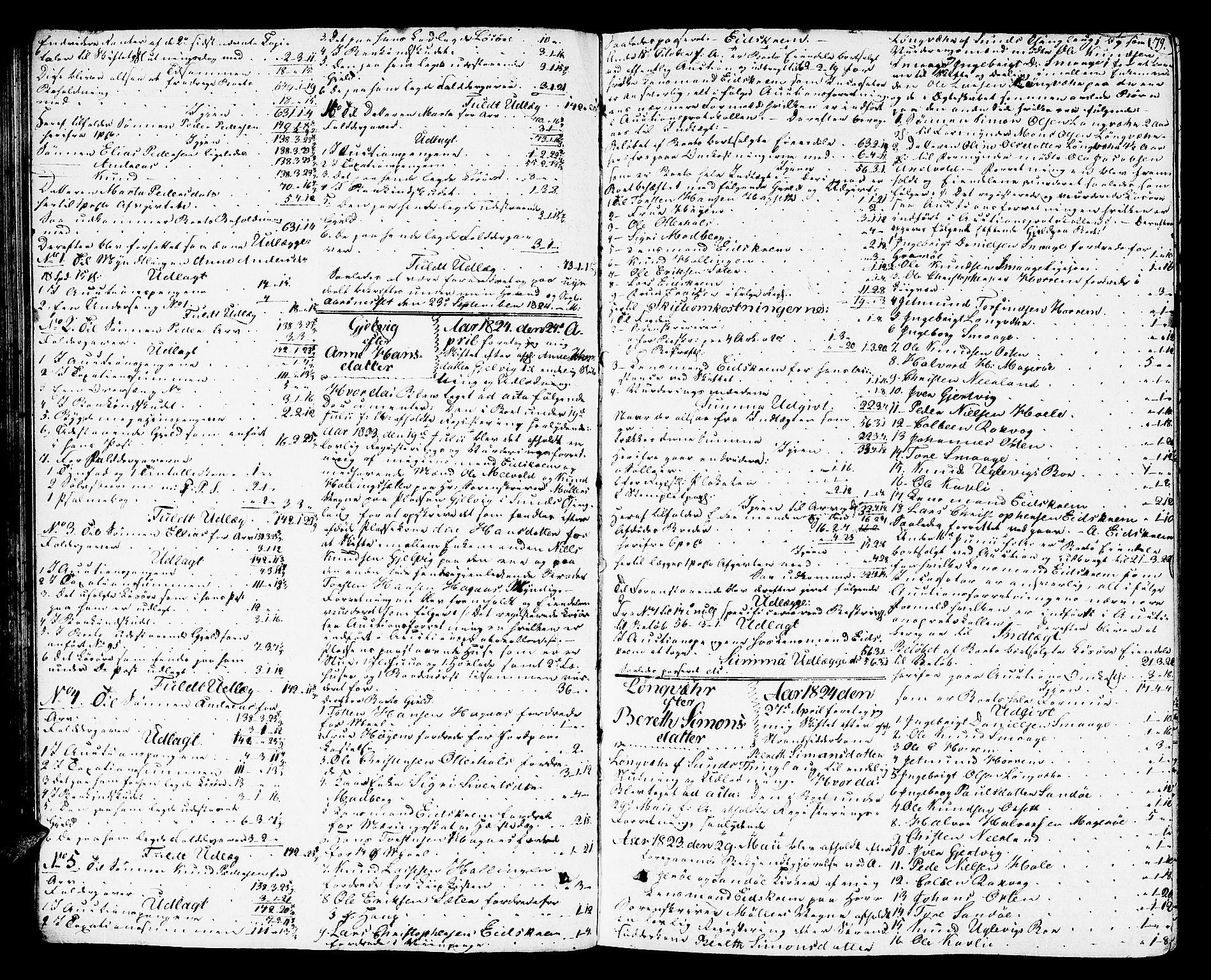 SAT, Romsdal sorenskriveri, 3/3A/L0016: Skifteutlodnings Protokoll 2, 1823-1831, s. 79
