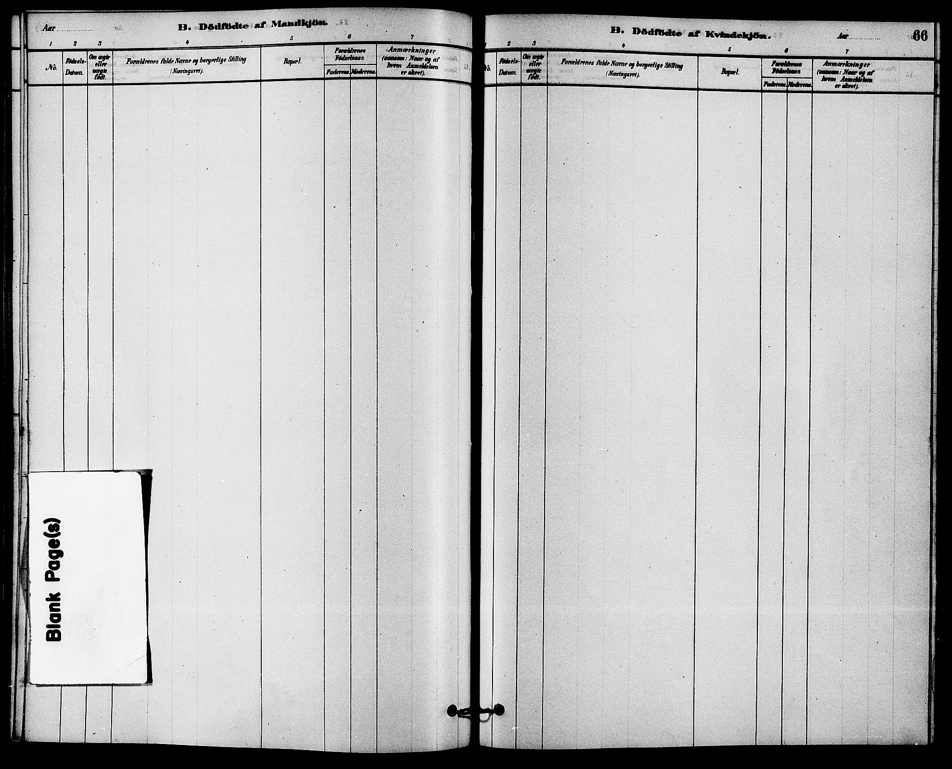 SAKO, Solum kirkebøker, F/Fb/L0001: Ministerialbok nr. II 1, 1877-1892, s. 66