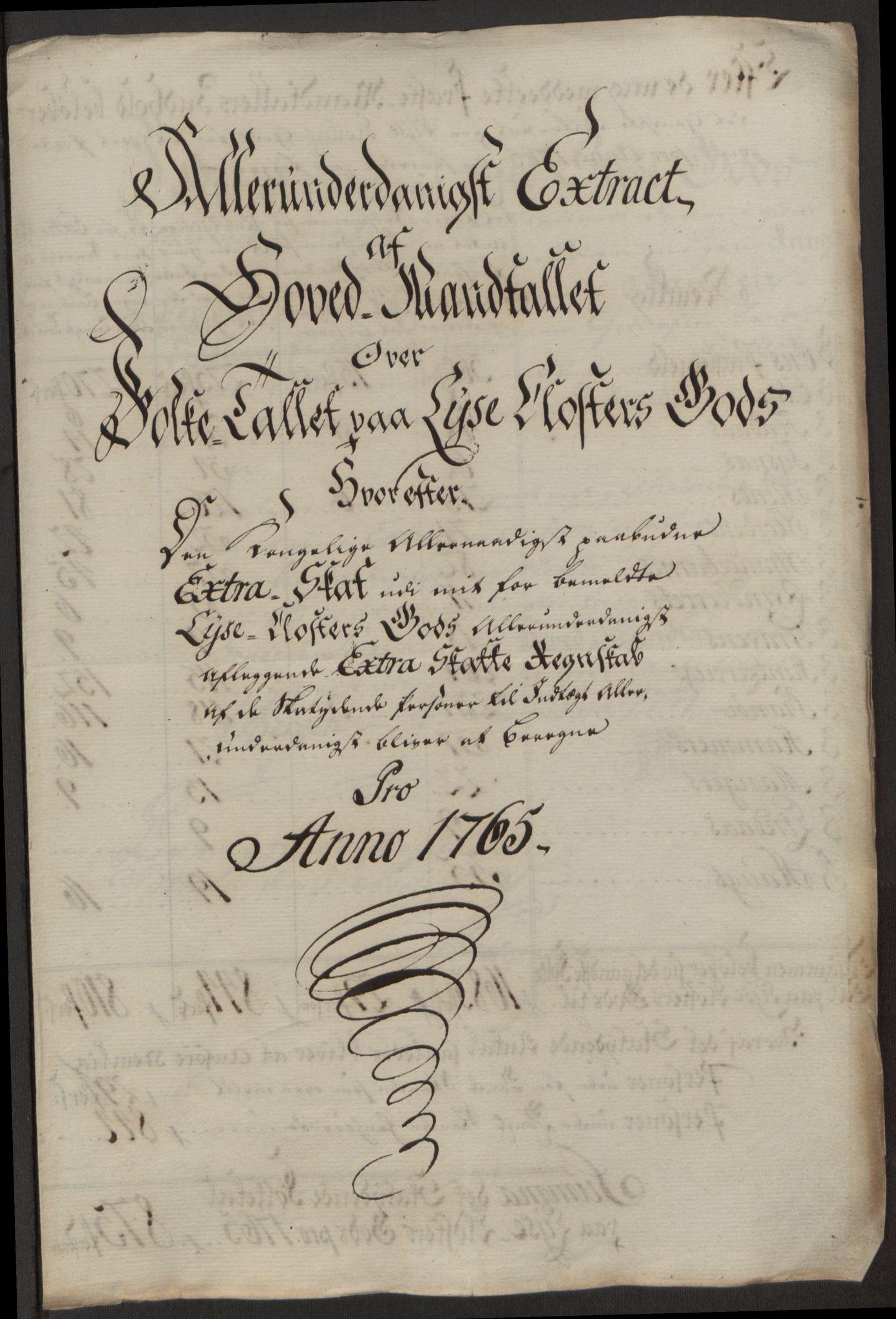 RA, Rentekammeret inntil 1814, Reviderte regnskaper, Fogderegnskap, R50/L3180: Ekstraskatten Lyse kloster, 1762-1783, s. 137