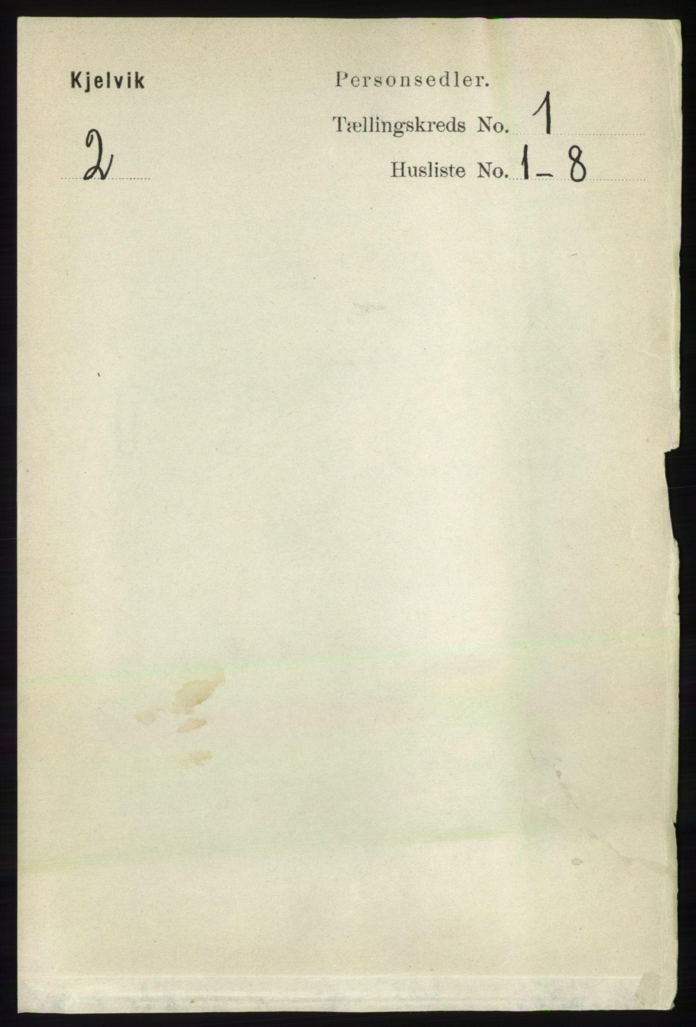 RA, Folketelling 1891 for 2019 Kjelvik herred, 1891, s. 34