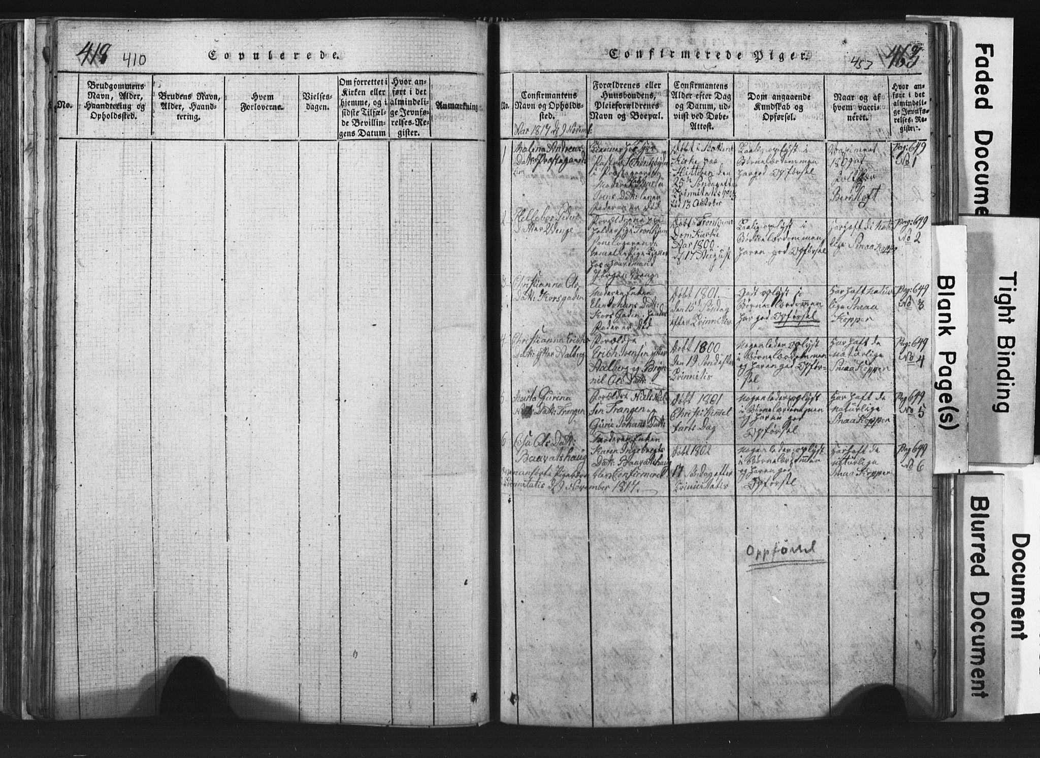 SAT, Ministerialprotokoller, klokkerbøker og fødselsregistre - Nord-Trøndelag, 701/L0017: Klokkerbok nr. 701C01, 1817-1825, s. 450-451