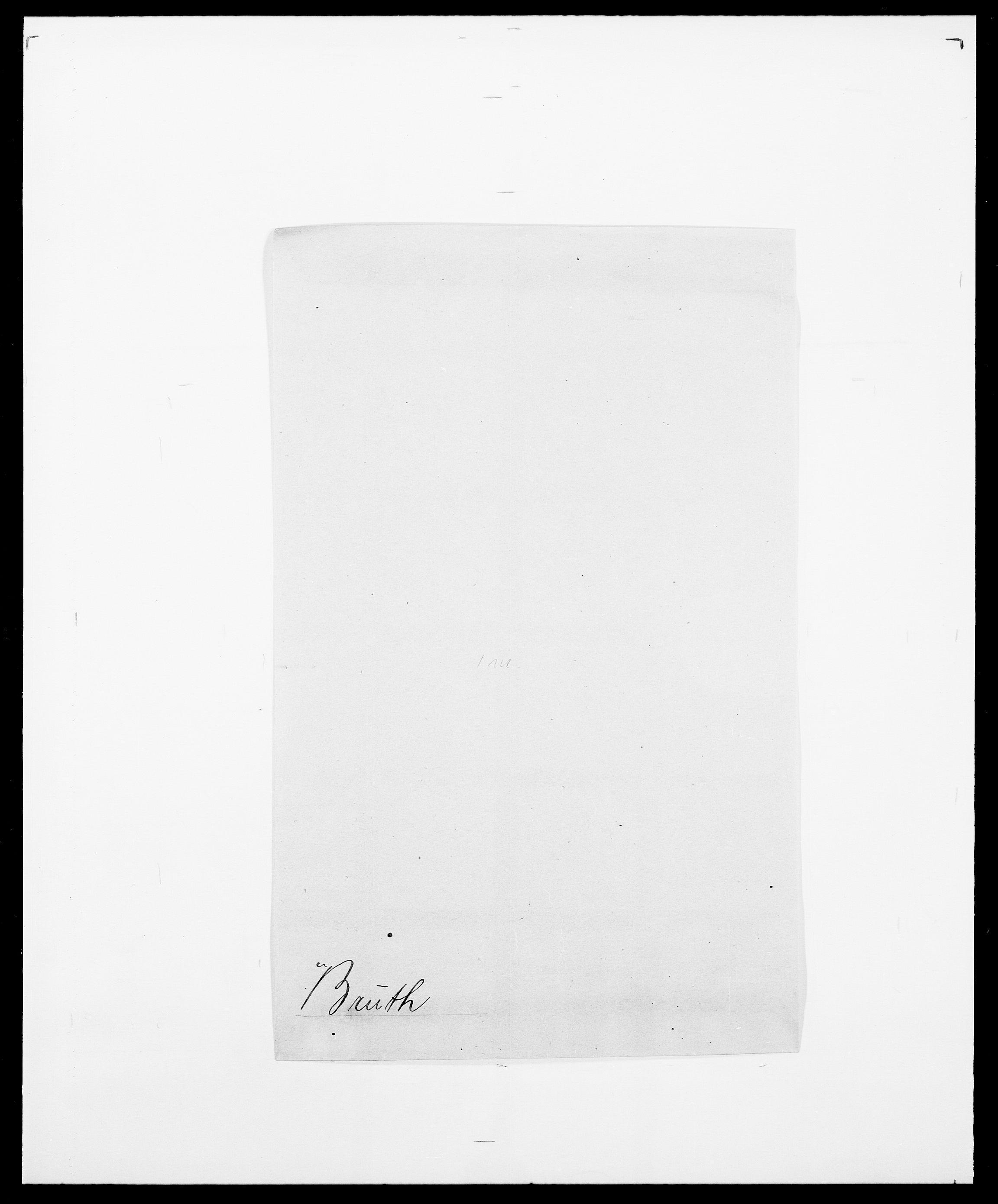 SAO, Delgobe, Charles Antoine - samling, D/Da/L0006: Brambani - Brønø, s. 853
