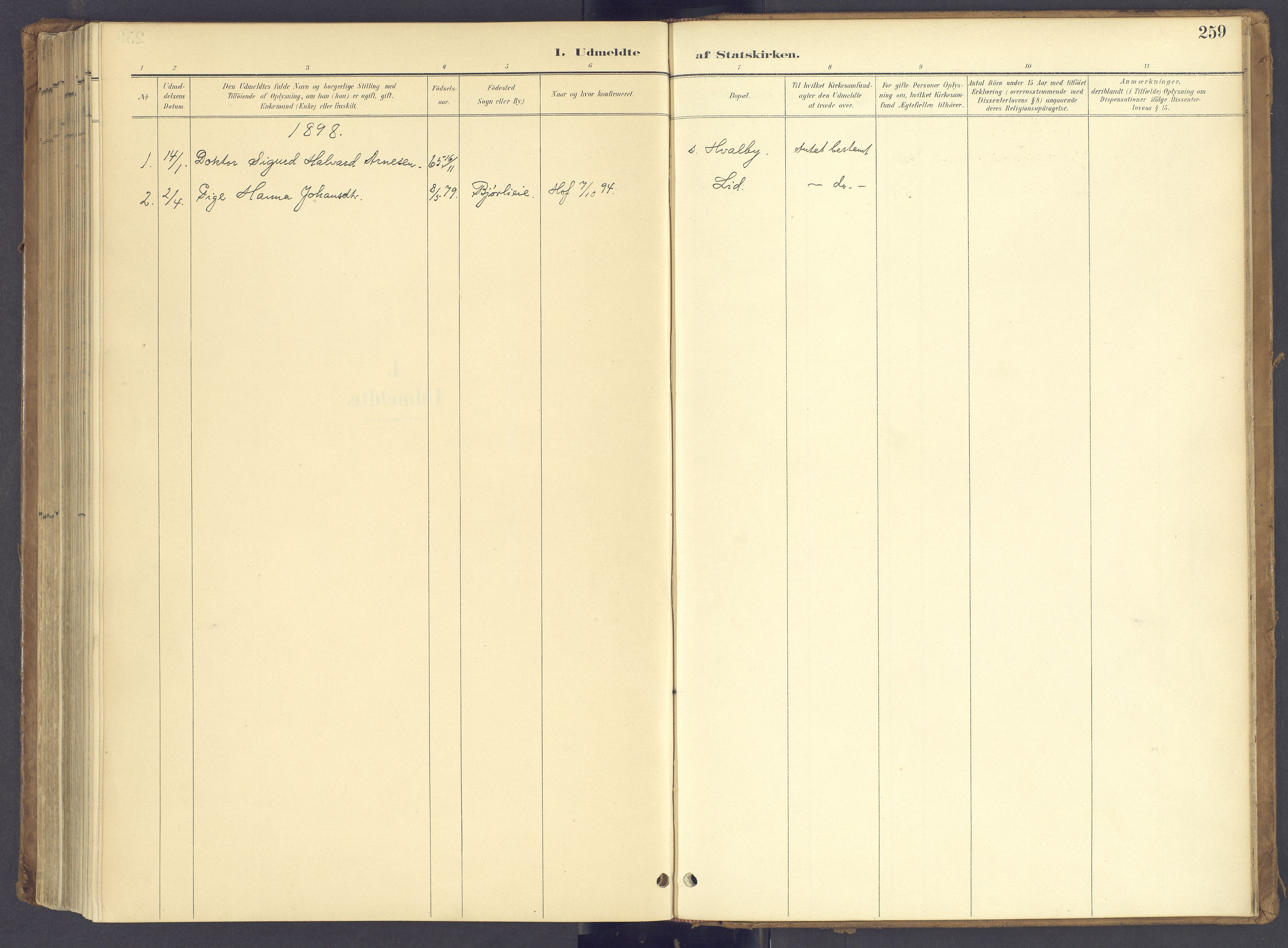 SAH, Søndre Land prestekontor, K/L0006: Ministerialbok nr. 6, 1895-1904, s. 259