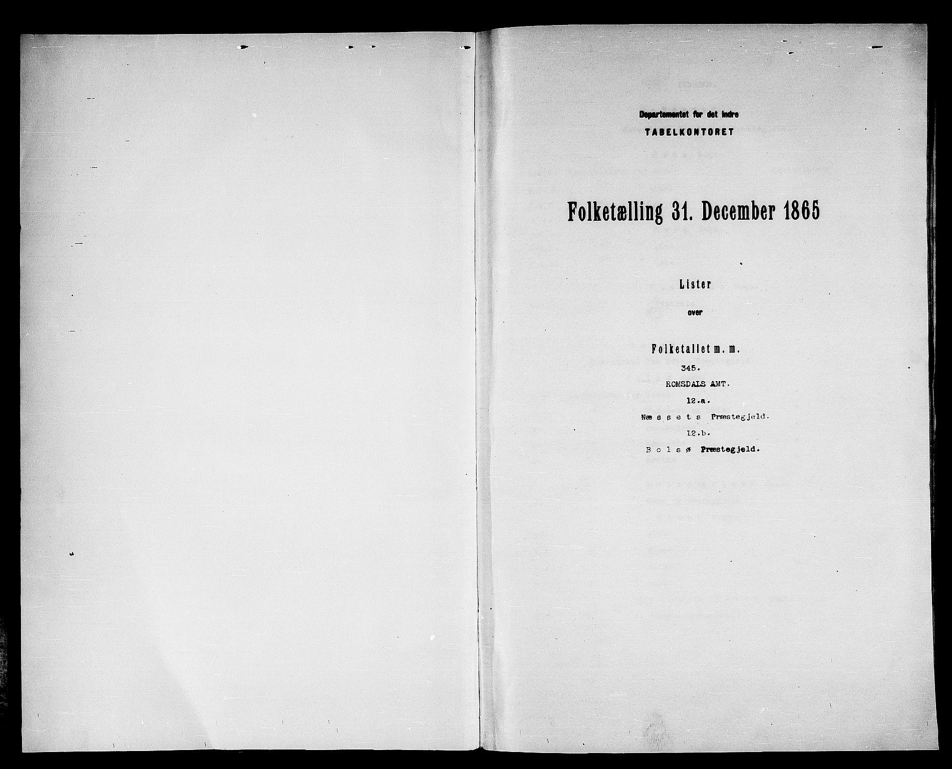 RA, Folketelling 1865 for 1543P Nesset prestegjeld, 1865, s. 3
