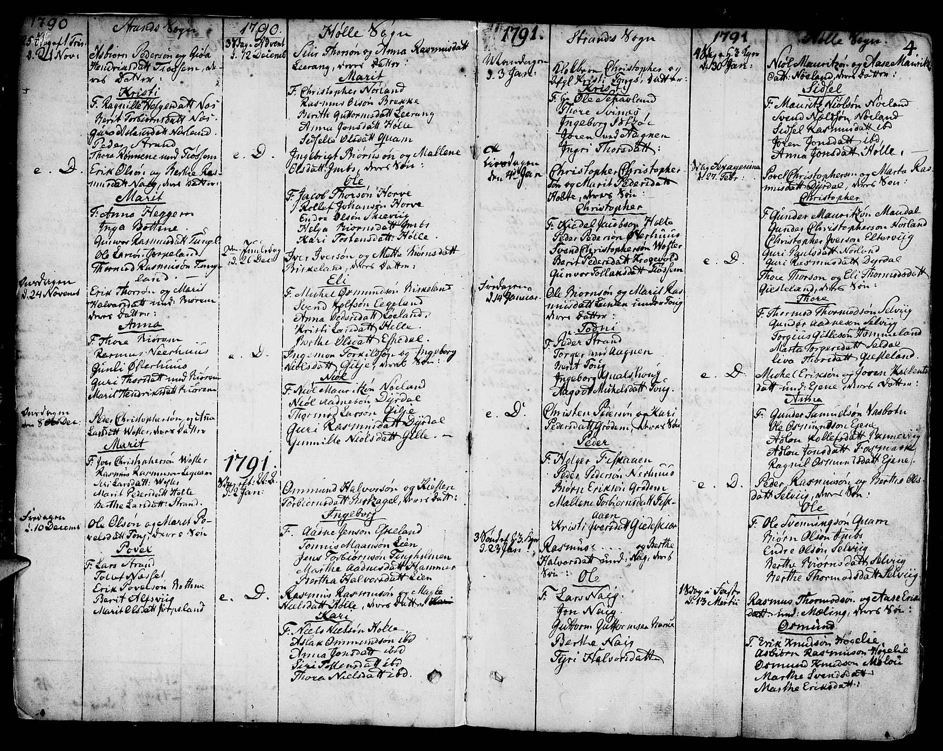SAST, Strand sokneprestkontor, H/Ha/Haa/L0003: Ministerialbok nr. A 3, 1769-1816, s. 4