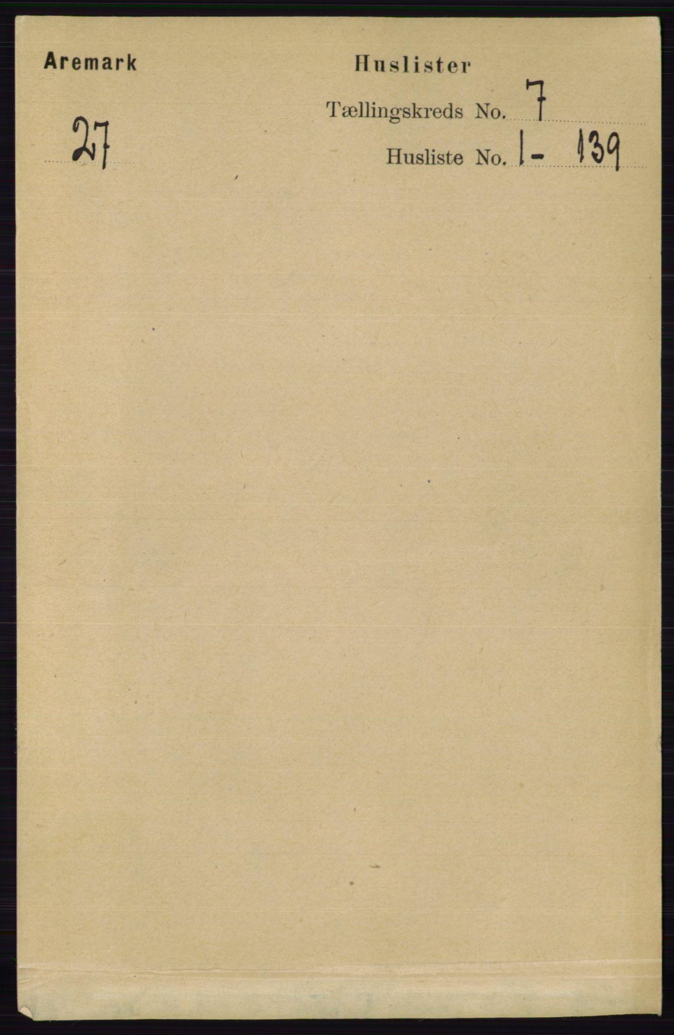 RA, Folketelling 1891 for 0118 Aremark herred, 1891, s. 3761