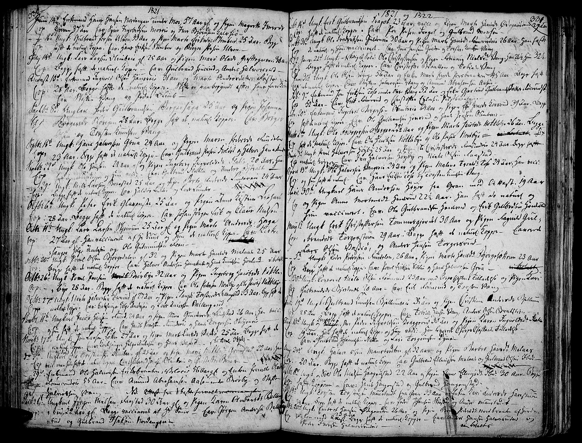 SAH, Jevnaker prestekontor, Ministerialbok nr. 4, 1800-1861, s. 330-331