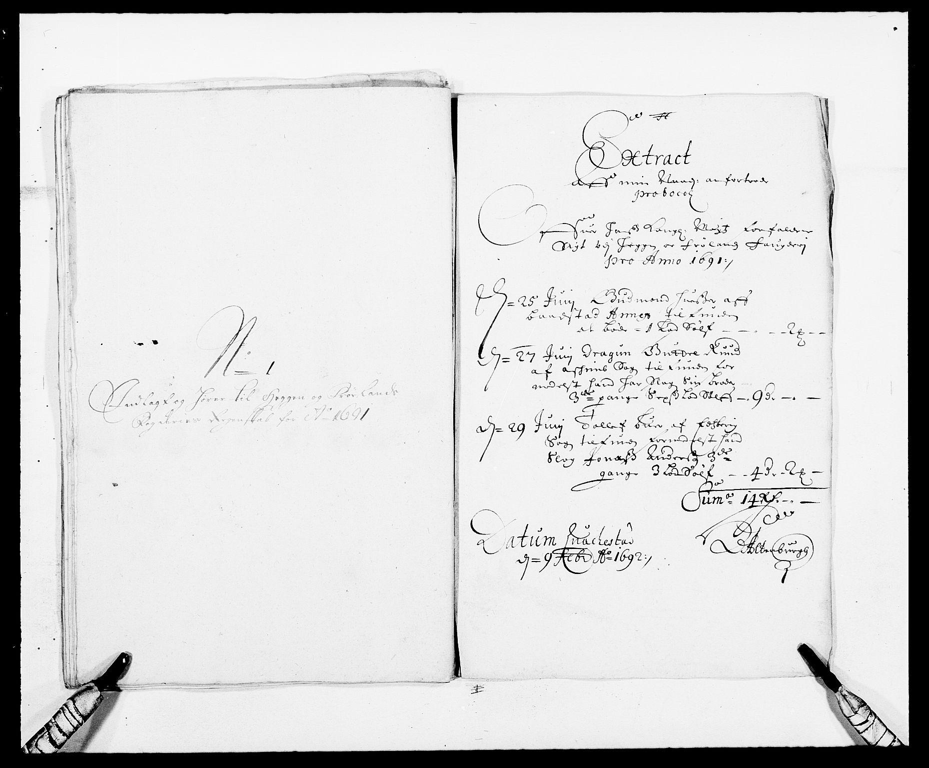 RA, Rentekammeret inntil 1814, Reviderte regnskaper, Fogderegnskap, R06/L0283: Fogderegnskap Heggen og Frøland, 1691-1693, s. 29