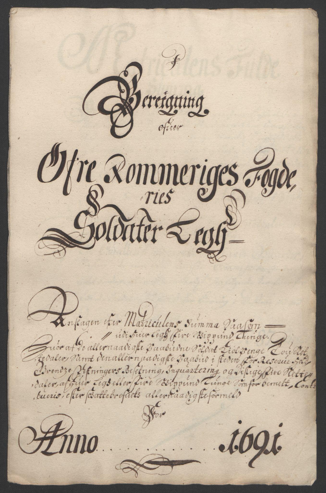RA, Rentekammeret inntil 1814, Reviderte regnskaper, Fogderegnskap, R12/L0703: Fogderegnskap Øvre Romerike, 1691, s. 207