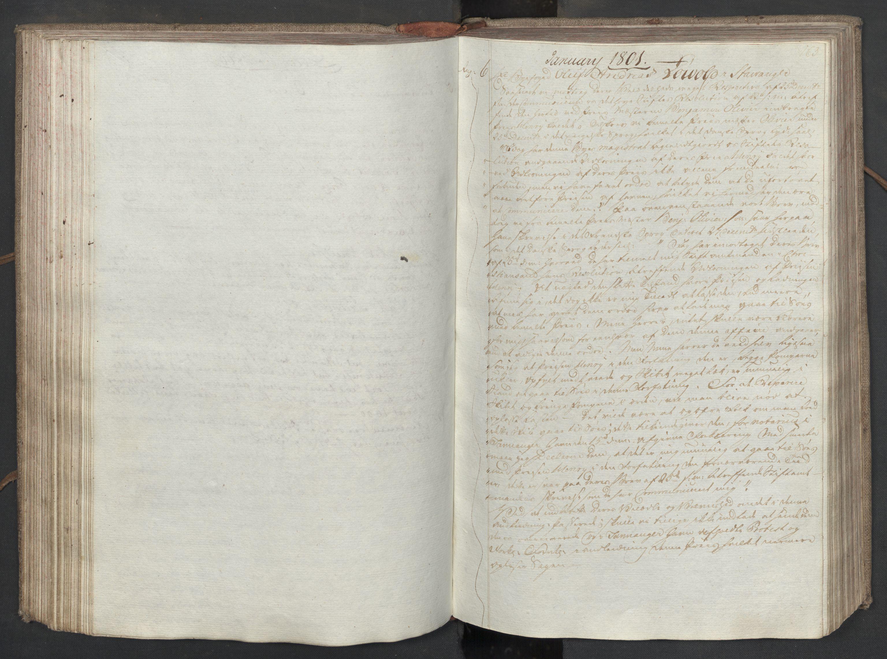 SAST, Pa 0003 - Ploug & Sundt, handelshuset, B/L0008: Kopibok, 1797-1804, s. 162b-163a