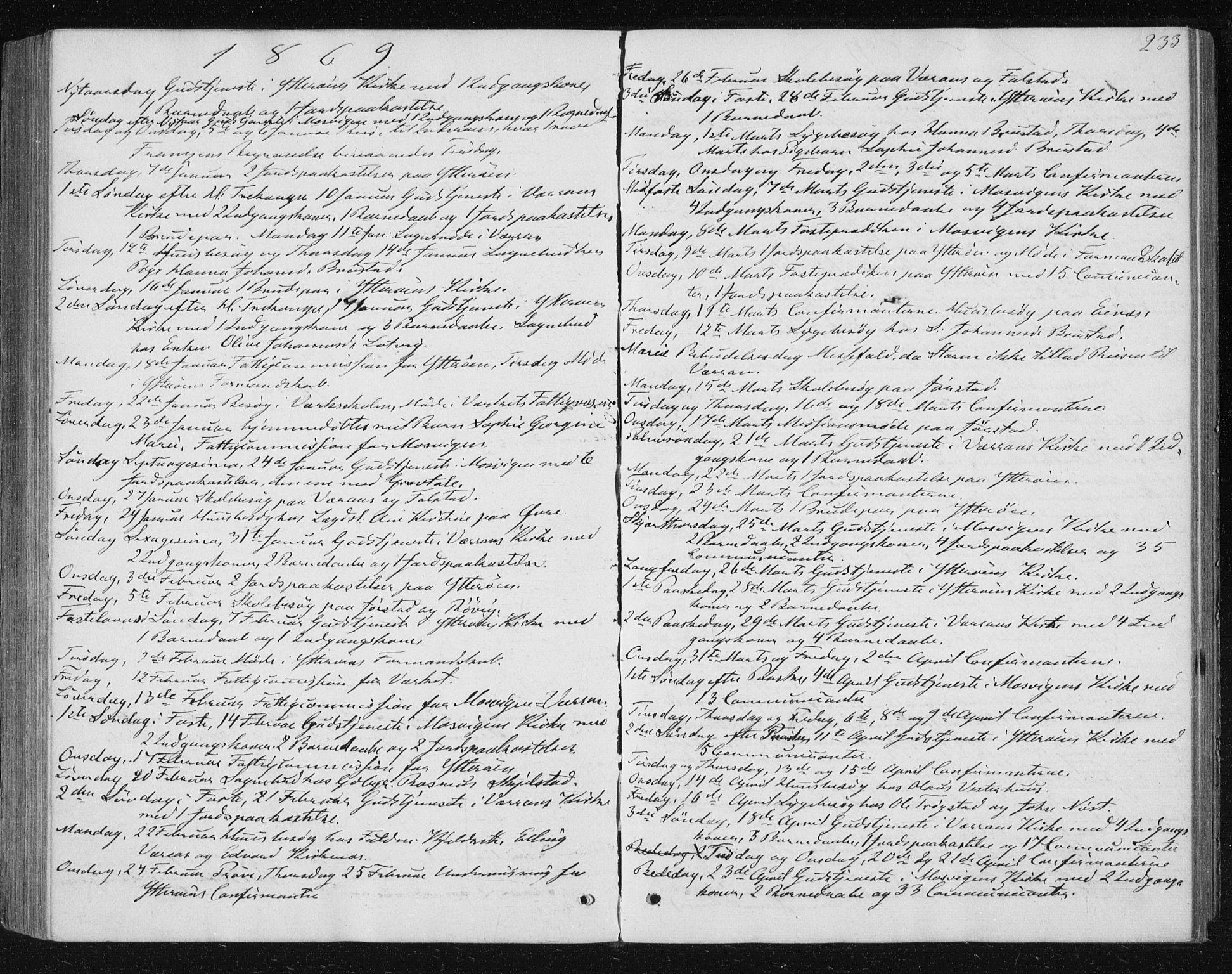 SAT, Ministerialprotokoller, klokkerbøker og fødselsregistre - Nord-Trøndelag, 722/L0219: Ministerialbok nr. 722A06, 1868-1880, s. 233