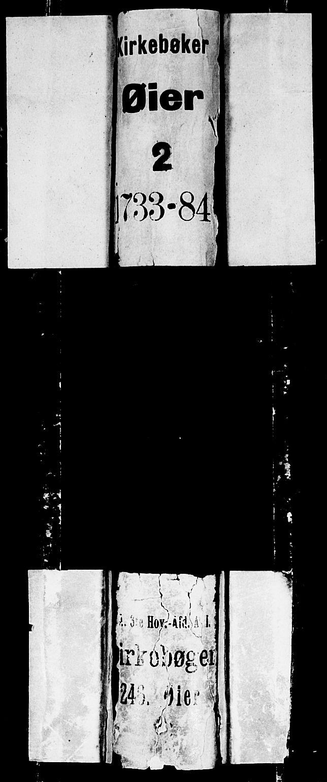 SAH, Øyer prestekontor, Ministerialbok nr. 2, 1733-1784