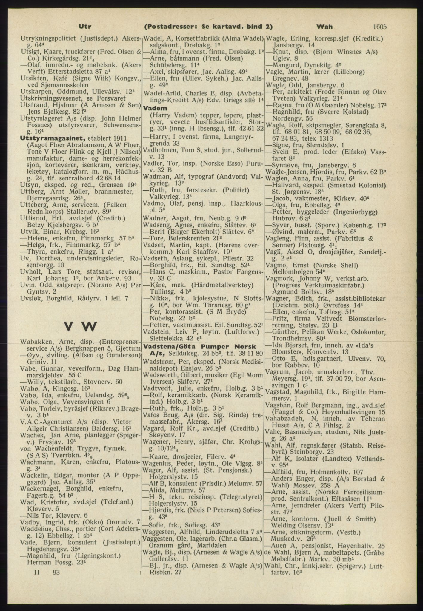PUBL, Kristiania/Oslo adressebok, 1965-1966, s. 1605